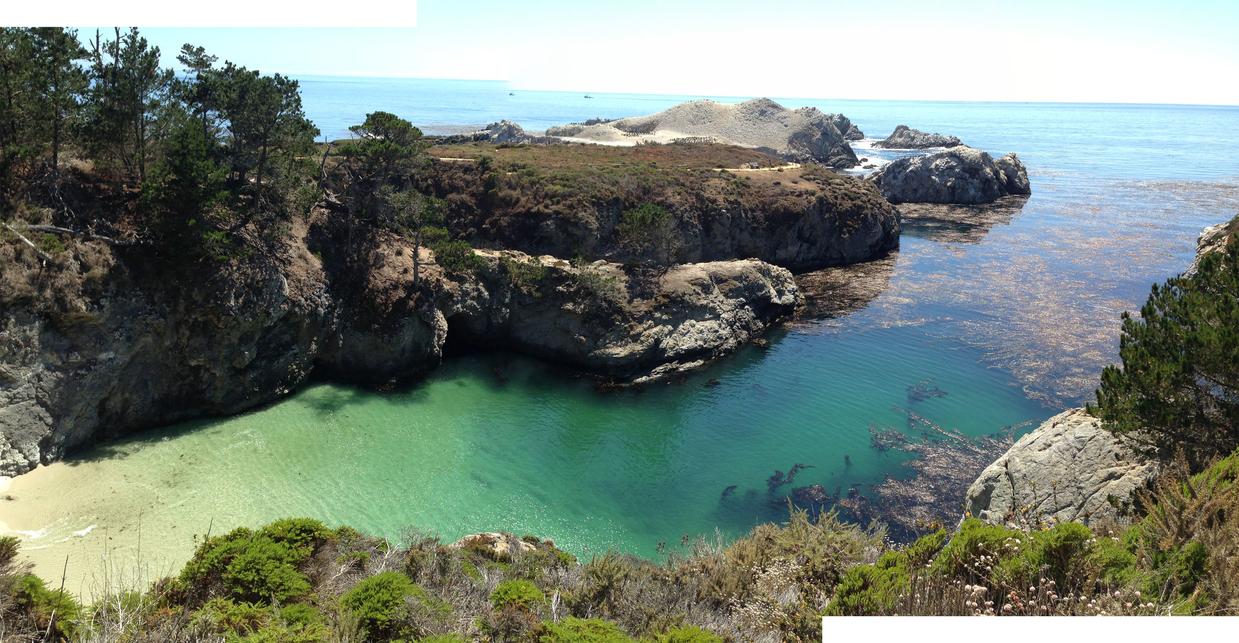 """Point Lobos """"China Cove""""and Bird Island in the distance; aka poopy apocolypse"""