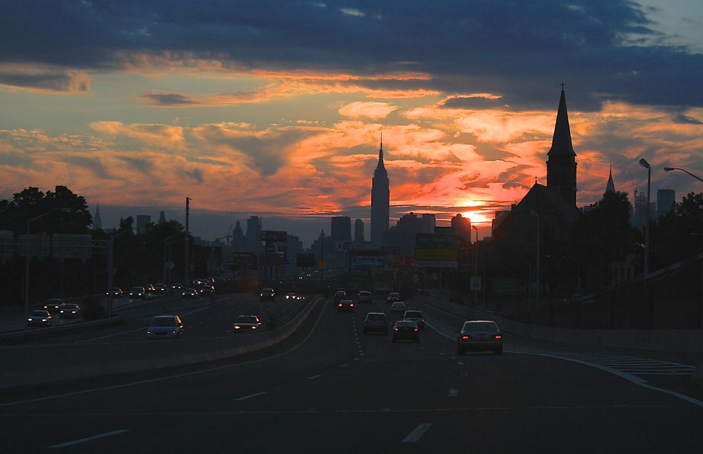 Sunset on the LIE