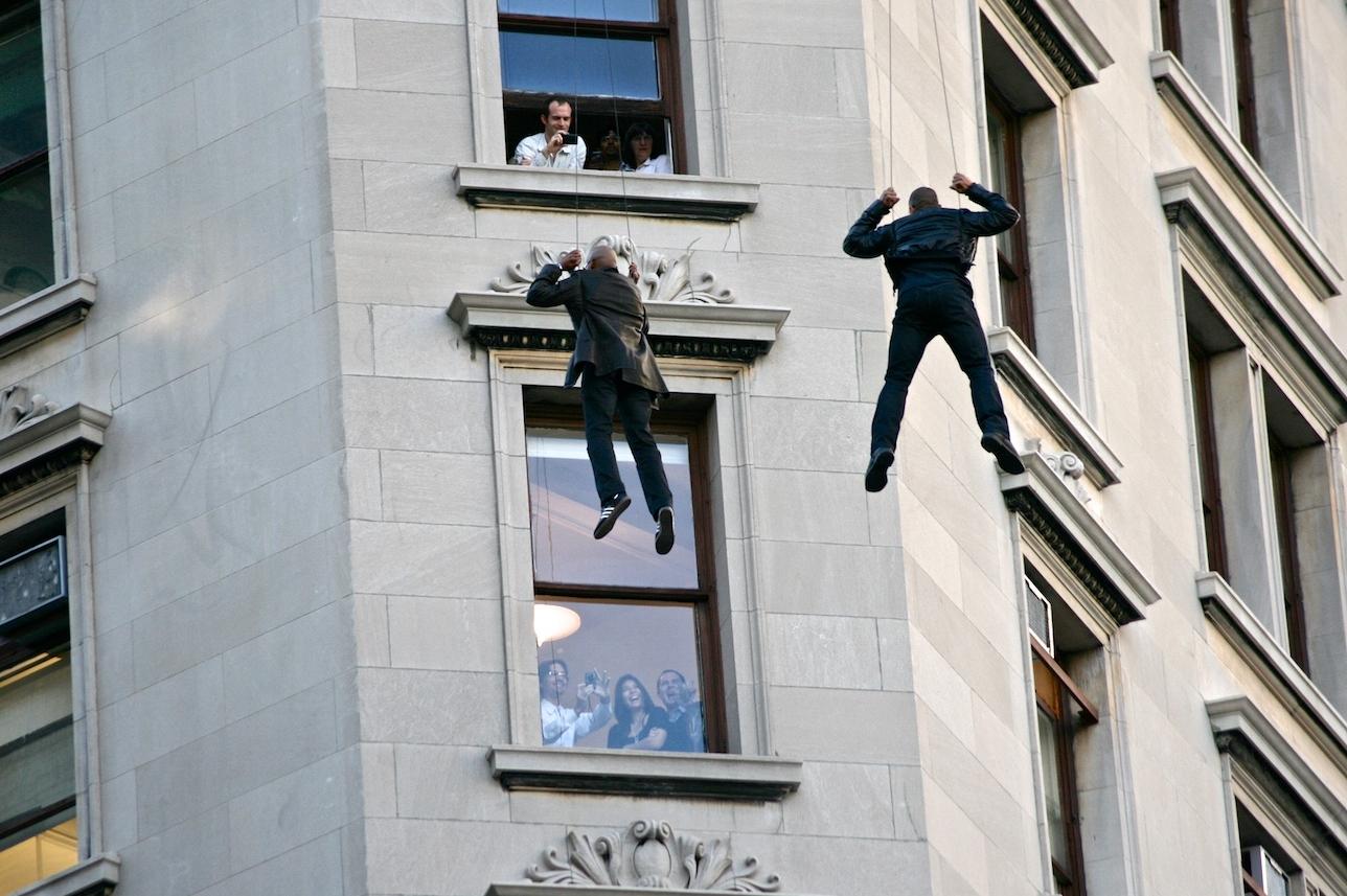 Stuntmen Hanging Around