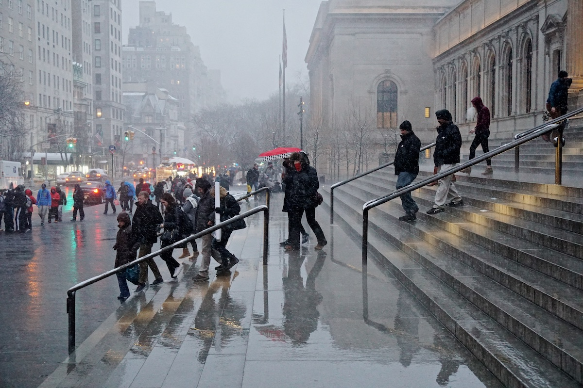 The Steps at the Met, NYC.