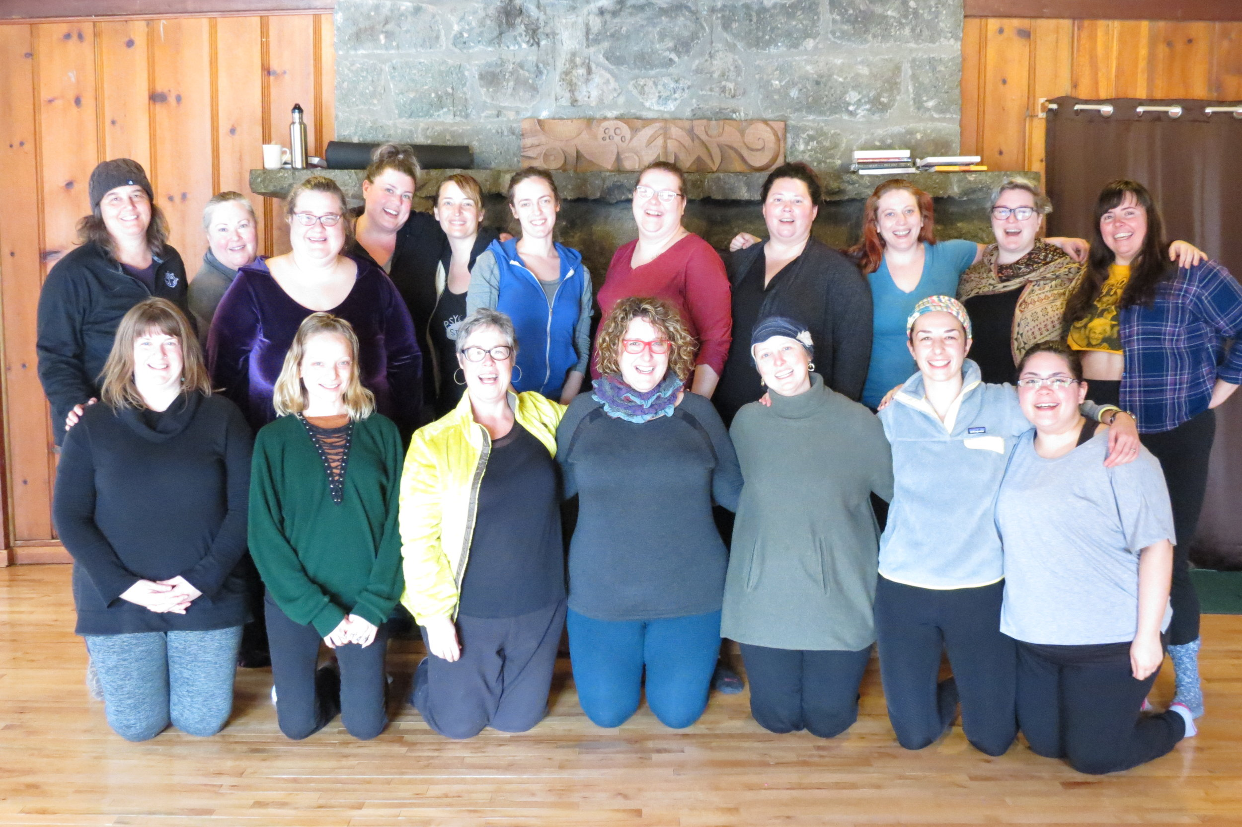 Yoga for Bigger Bodies 2018 Breitenbush Retreat! 17 women came together to create community, love, ferocity, self-exploration and intuitive movement. I'm so grateful to have witnessed such vulnerability and strength. Thank you from the bottom of my heart!