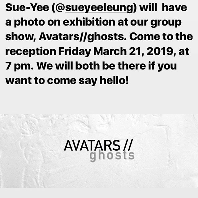 I have an opening reception tomorrow evening for a group show, Avatars//ghosts. Come and say hello, @ianthehenderson will be there. Come in a fun costume if you are inspired!  Fri March 22, 2019 7 pm  Nave Gallery  155 Powder House Blvd Somerville, MA