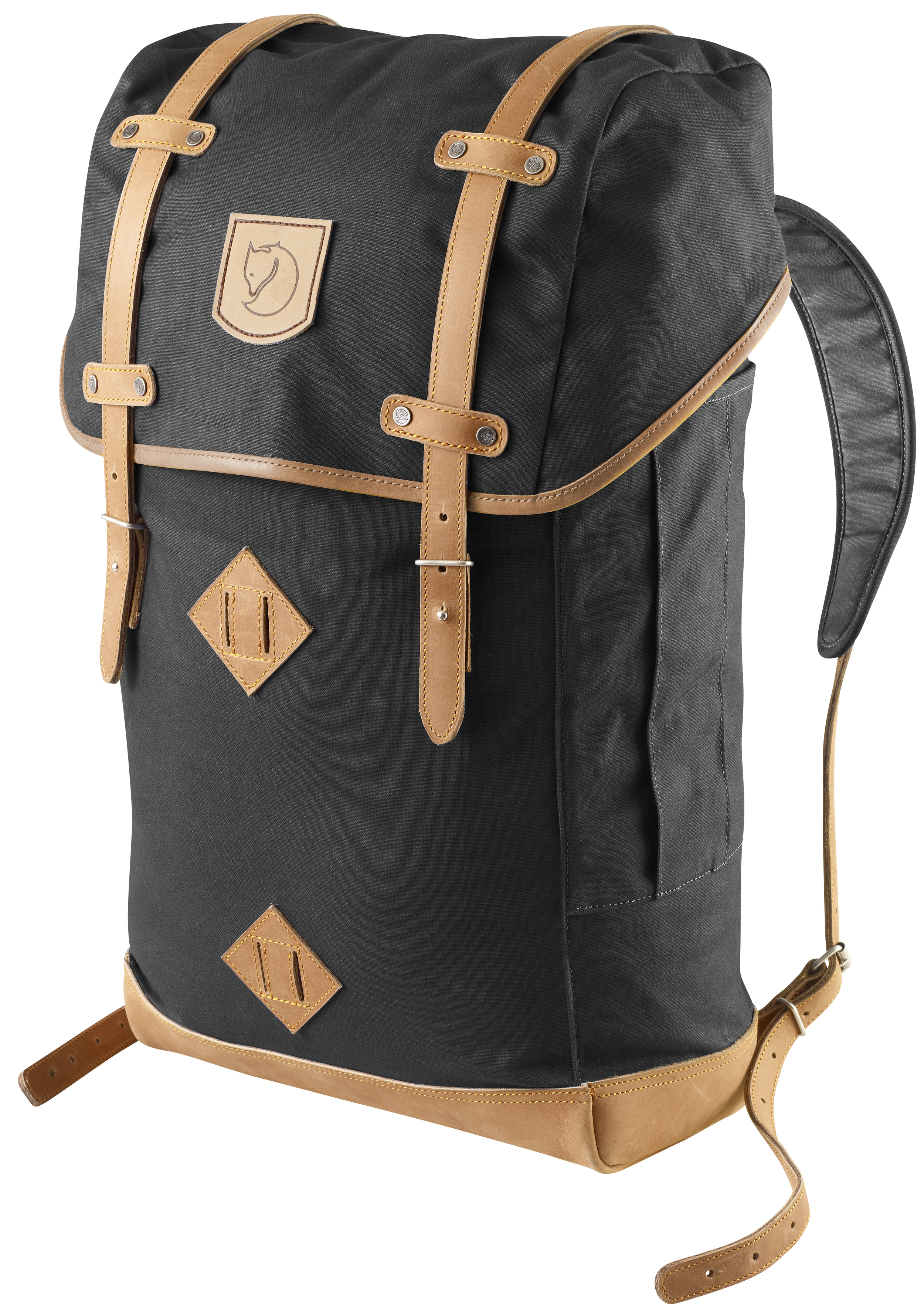 Fjällräven: The Rucksack   This pack want to climb mountains just for the epic selfie!  Aheavy-duty day hiker/overnighter built to last! If packed smart, you could easily use this for an overnight beach trip or into the hills.  Being a poly/cotton waxed canvas, the fabric on its own is water resistant but by waxing the fabric further, you can almost make it waterproof. The wax comes in a block which you just rub onto the fabric as lightly or as heavy as you want, and then you just melt it in with a blow-drier.  Made in Vietnam  $200   fjallraven.us