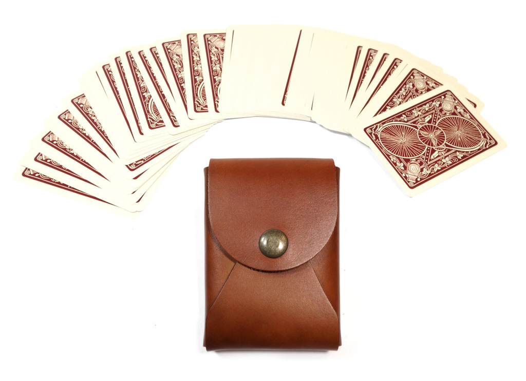 The Maverick leather playing card case by  Red Clouds Collective  is for players. (Zing!) No joke though, this would make a great gift for anyone who enjoys fireside entertainment.