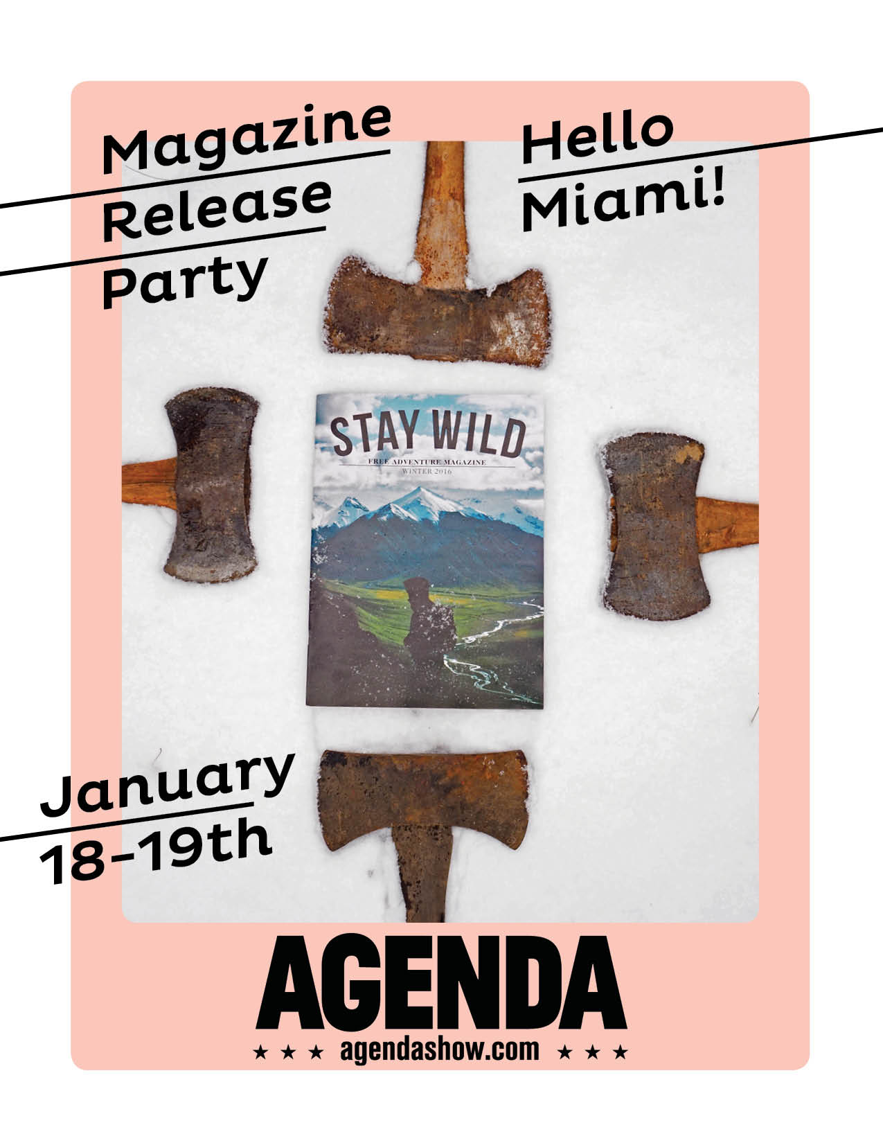 Aloha Florida! Come for the free magazines, stay for the  Agenda show .