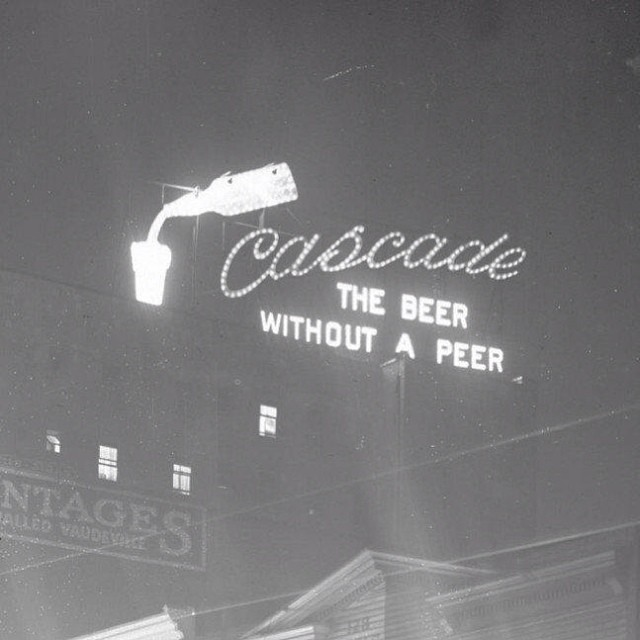 Sign For Cascade Pale Ale, Regent Hotel, East Hastings Street, 1910