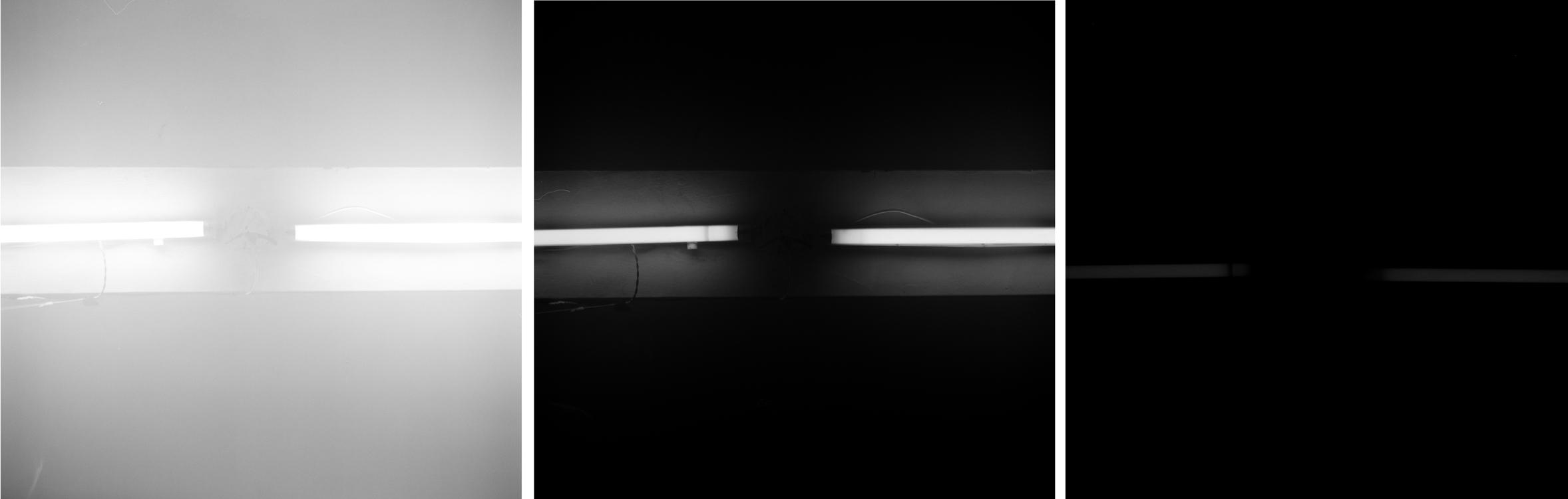 Flourscent Light《灯管 》by Bu Yun Jun 卜云军,100×100cm x 3, 2010
