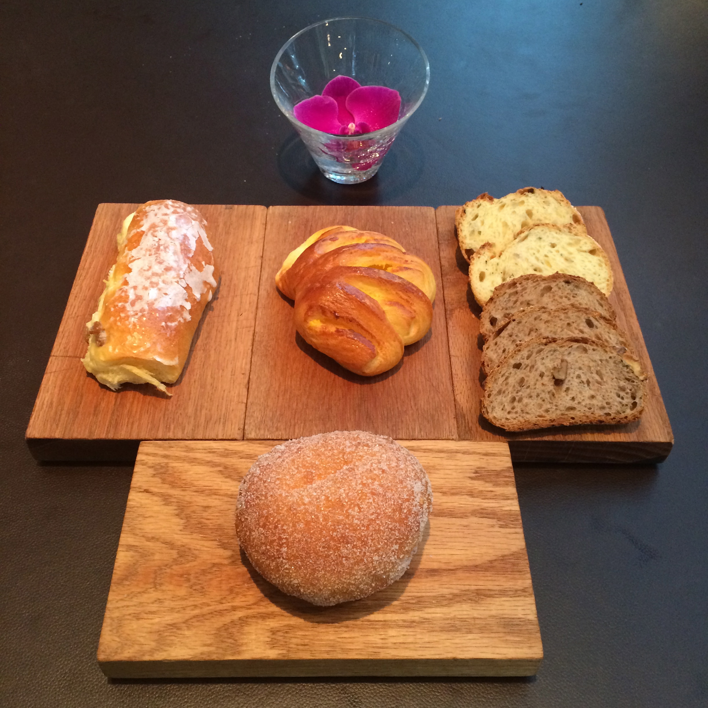 Breads and pastries at Opera Bombana    Image (C) Zandie Brockett, 2014