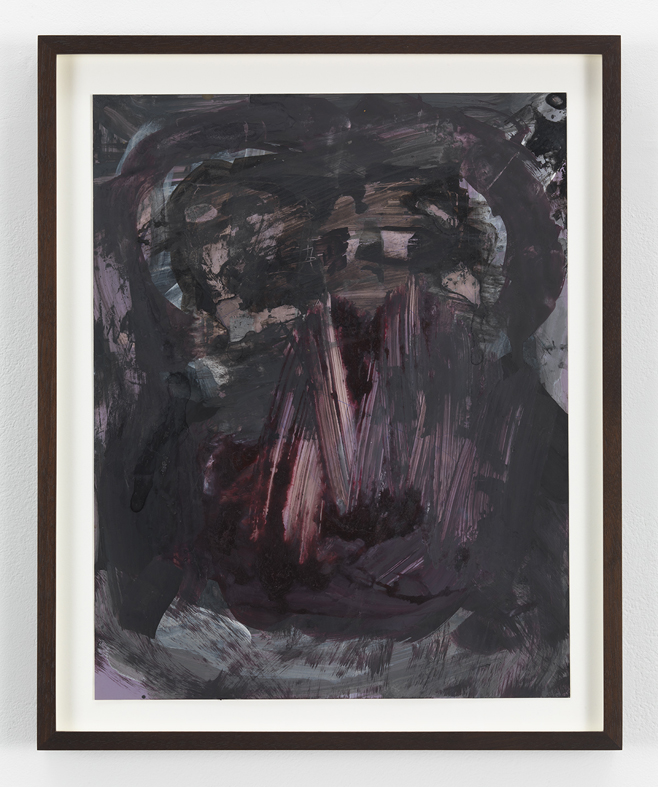 Untitled 2012 Inks and mixed media on photographic paper 35.5 x 27.9 cm / 14 x 11 in , 41.4 x 33.7 cm / 16.3 x 13.3 in framed