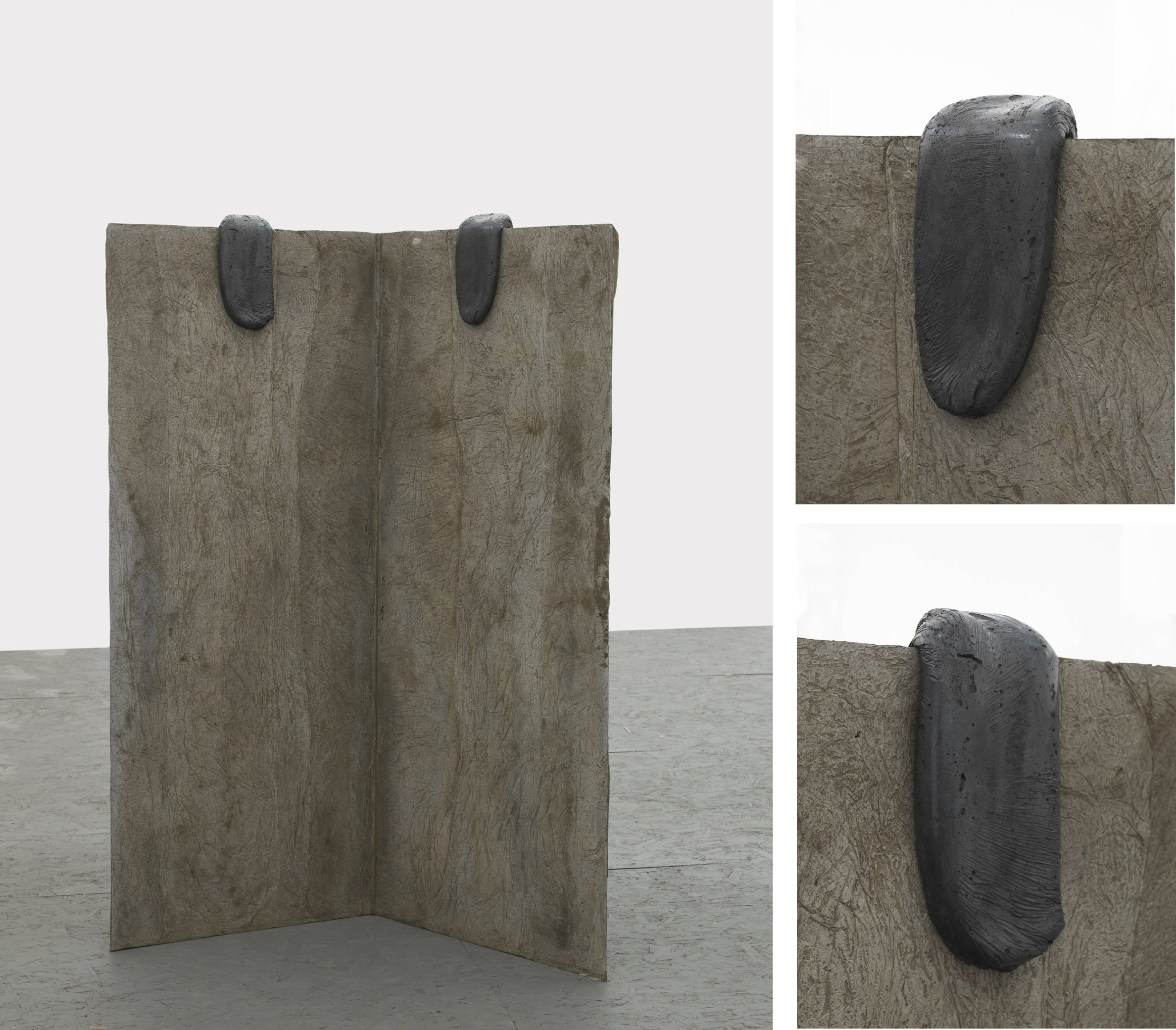 LL / UU (Working Title)  2013  Concrete  158 x 50 x 104 cm / 62.2 x 19.6 40.9 in