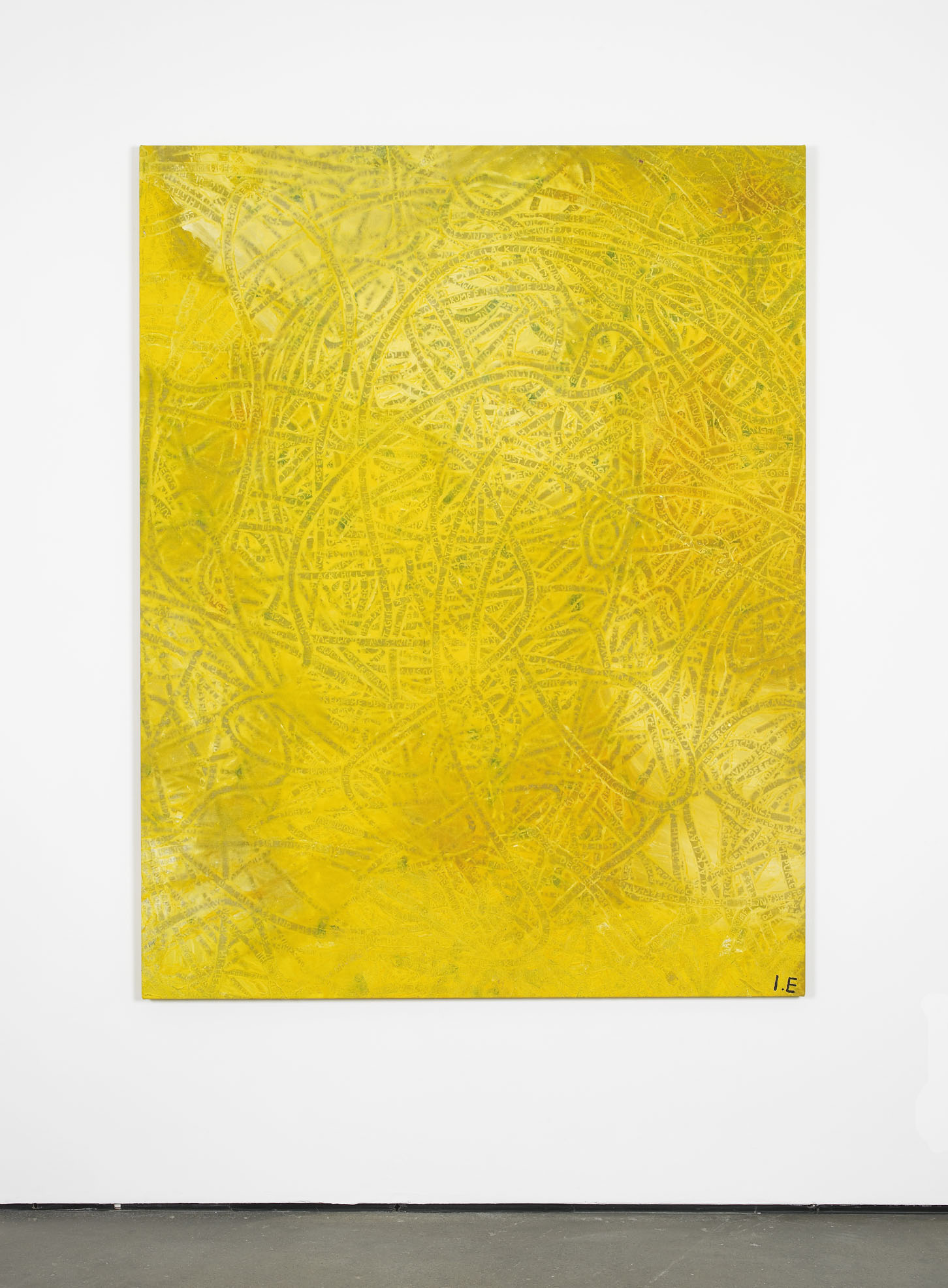 Tracks (Secret Greenland)  2013  Acrylics and latex house paint on primed linen  180 x 140 cm / 70.8 x 55.1 in