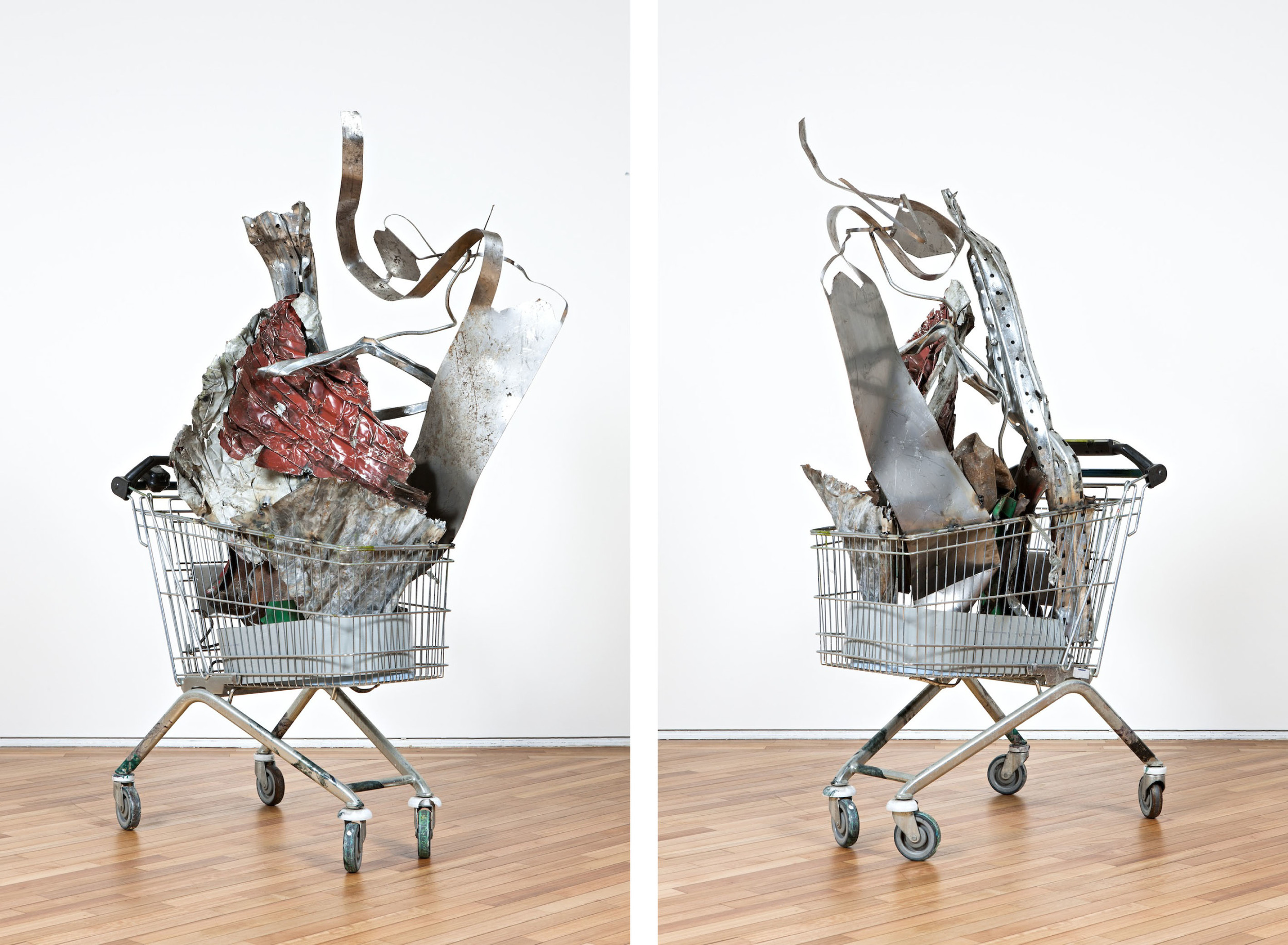 Wagon (Barok Red)   2013  Shopping trolley with welded found steel objects   Dimensions variable