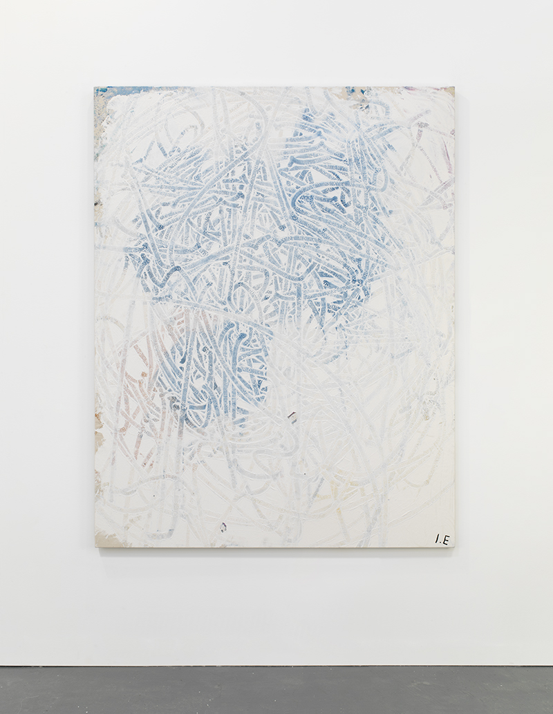 Tracks (Merely mannered but a bit much)  2013  Acrylic, ink and oil on linen  180 x 140 cm / 70.8 x 55.1 in
