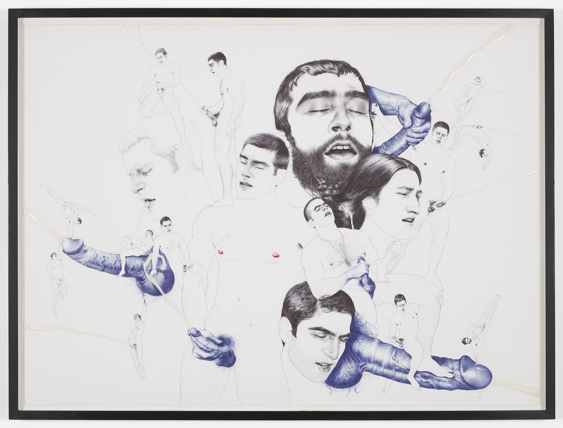 Sticky Subject  2013  Ink and glue on paper  89 x 121 cm / 35 x 47.6 in