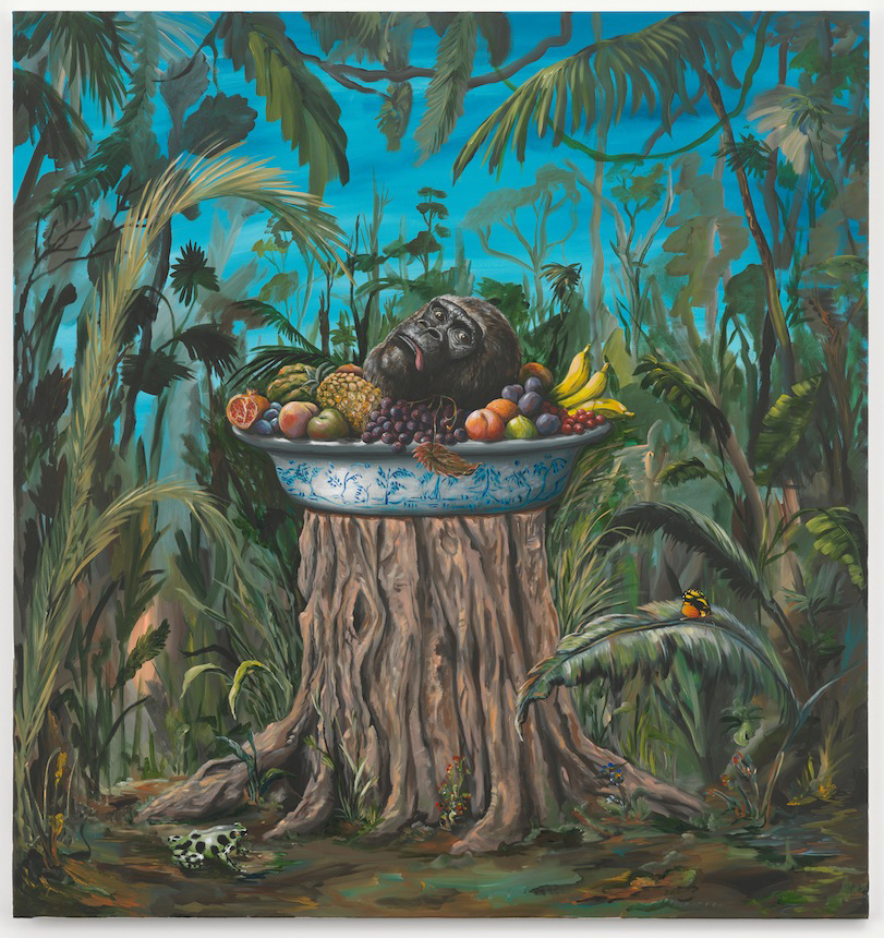 Food platter (poacher's delight)  2013  Acrylic on canvas  170 x 160 cm / 66.8 x 63 in