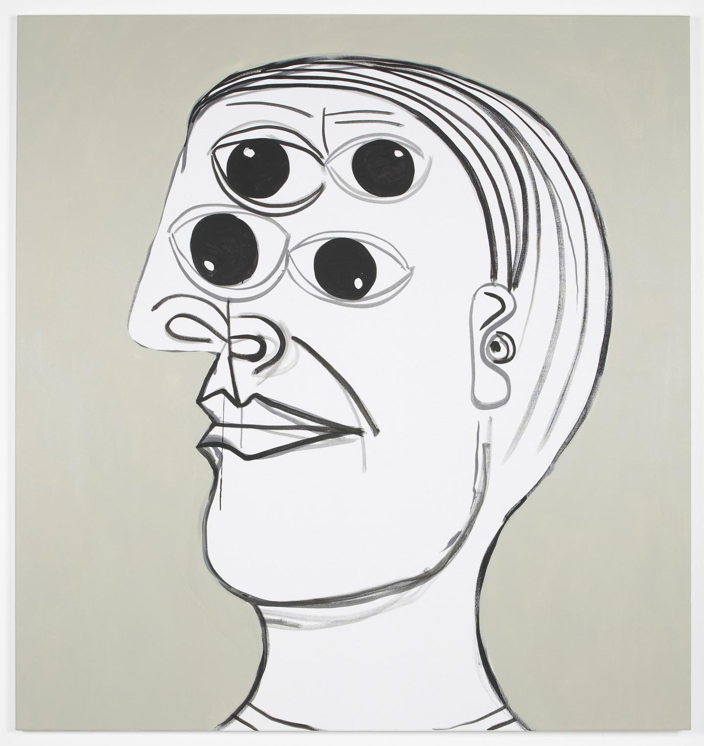 Four Eyes  2012  Acrylic on canvas  160 x 150 cm / 62.9 x 59 in