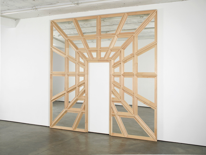 Robert & Trix Haussmann Lehrstück VI, Spiegelperspektive 1979-2013 Wood and acrylic mirror 320 x 320 x 6 cm / 125.9 x 125.9 x 2.3 in