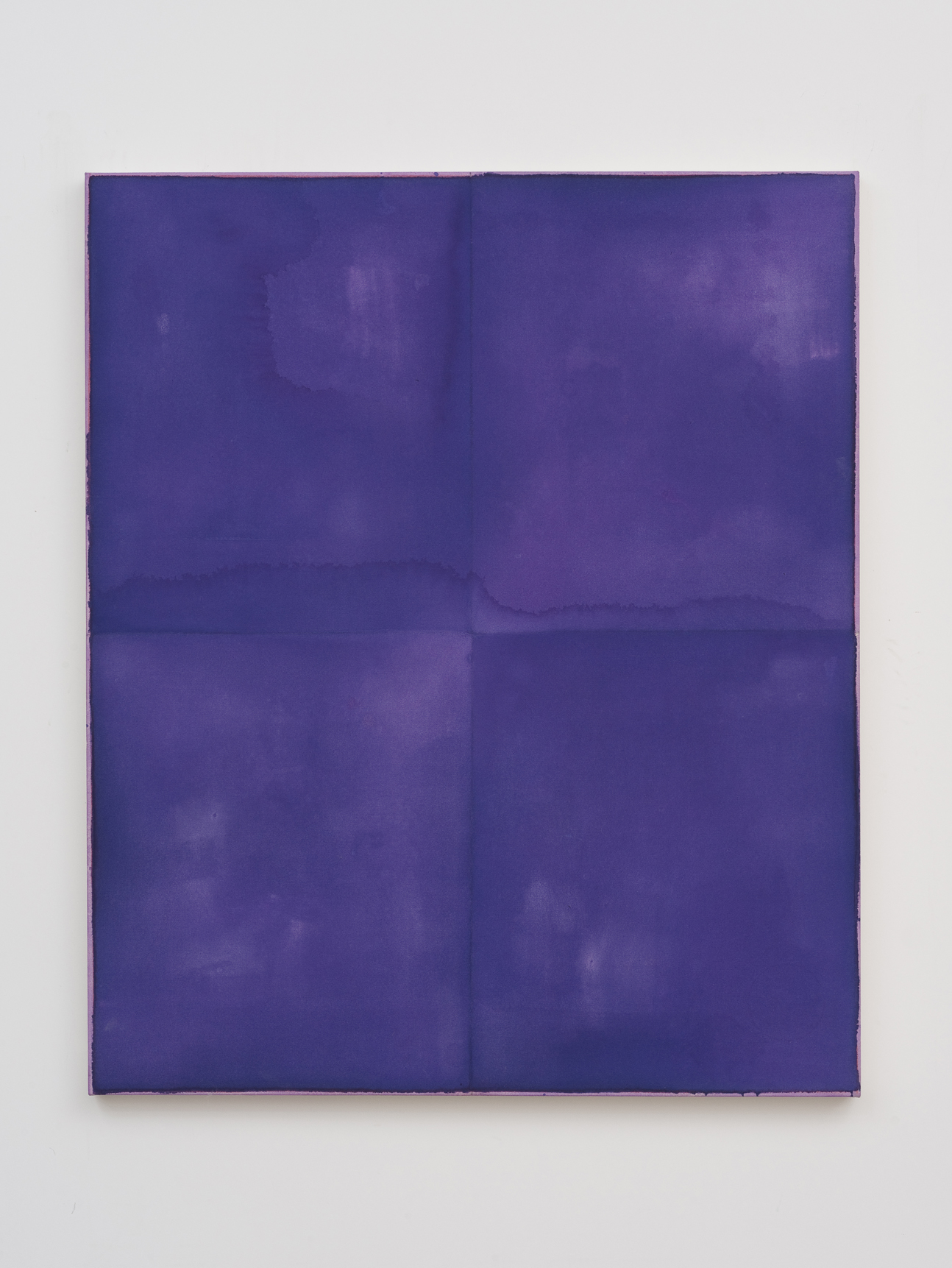 Violet Example   Monochrome / individually treated quadrants   2013   Acrylic and pencil on canvas:   127 x 106.8 cm / 50 x 42 in