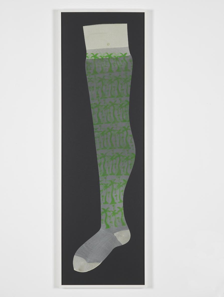 Untitled  1969  Screenprint on Fogal tights  93 x 24 cm / 36.6 x 9.4 in