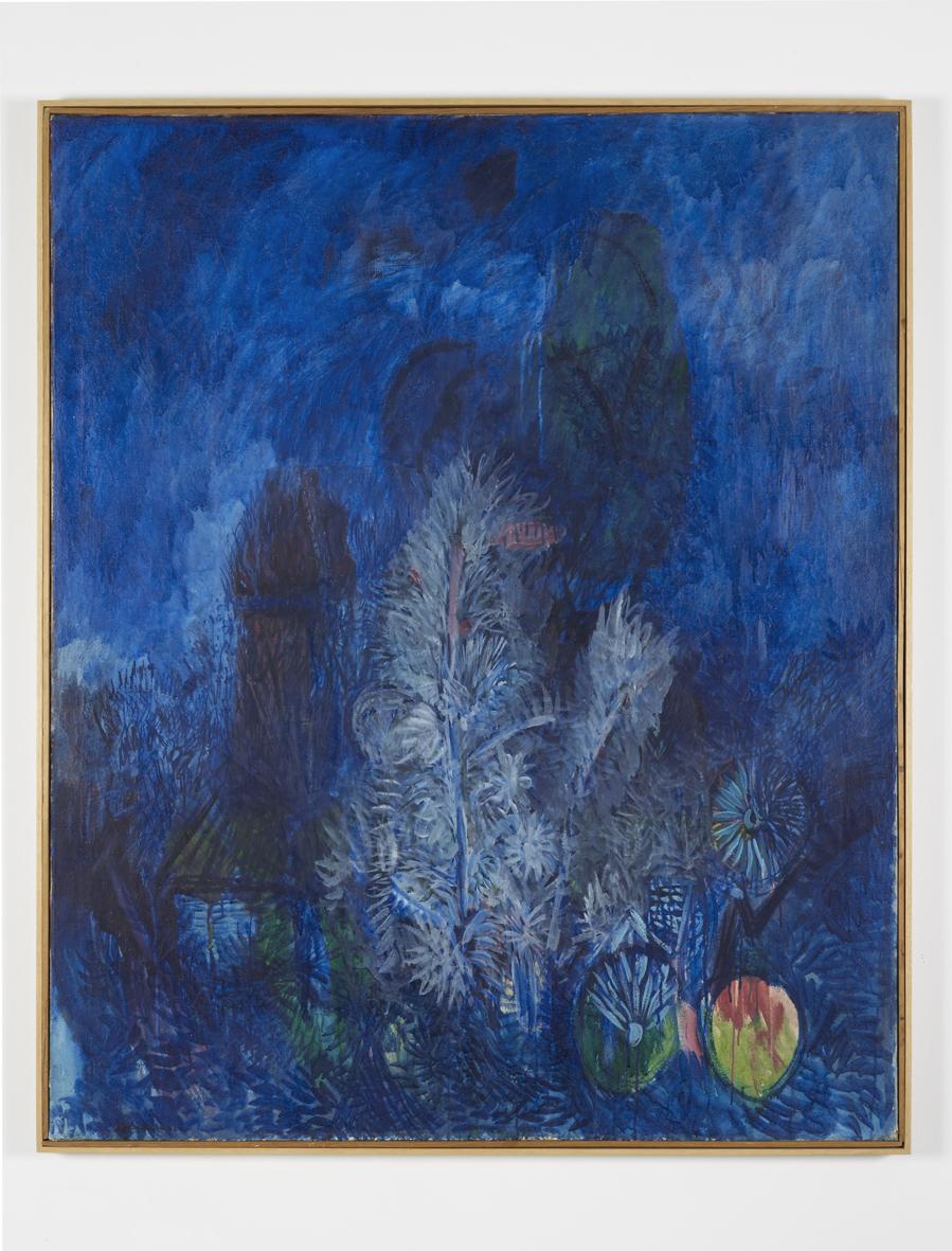 Blaue Landschaft  1962  Oil on canvas  140 x 115 cm / 55 x 45.2 in