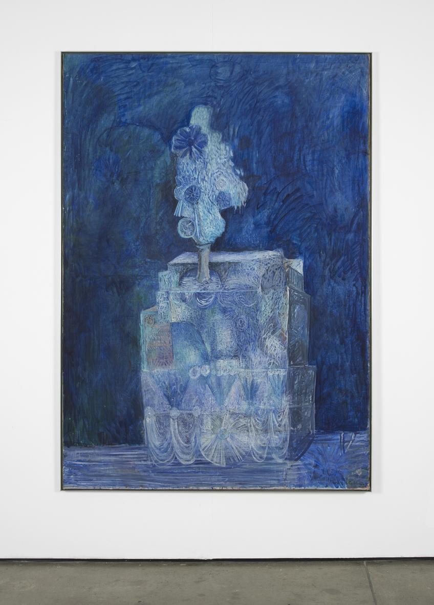 Blaue Illusion  1960  Oil on canvas  200 x 140 cm / 78.7 x 55 in