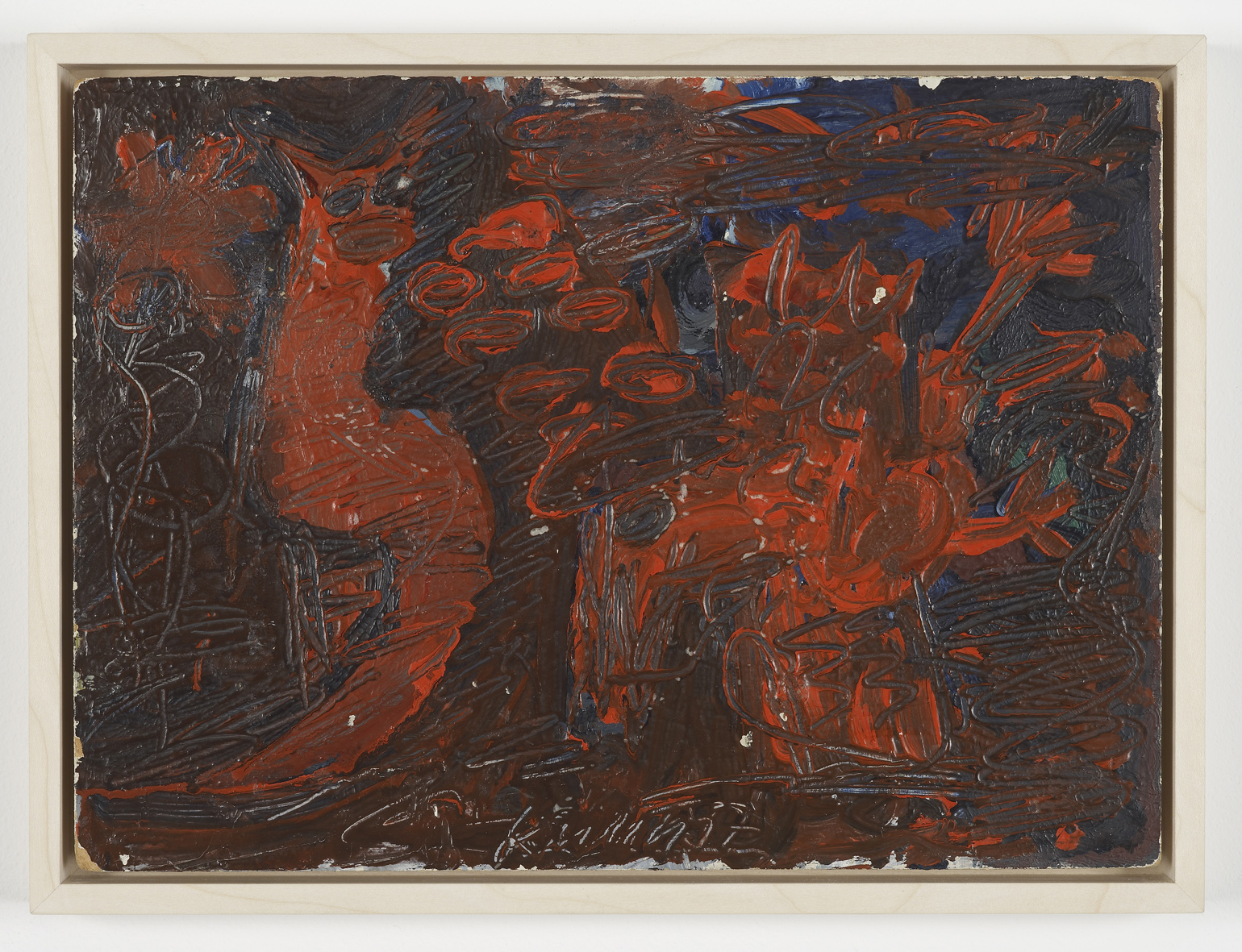 Untitled  1957  Oil on board   26.5 x 35.5 cm / 10.4 x 13.9 in
