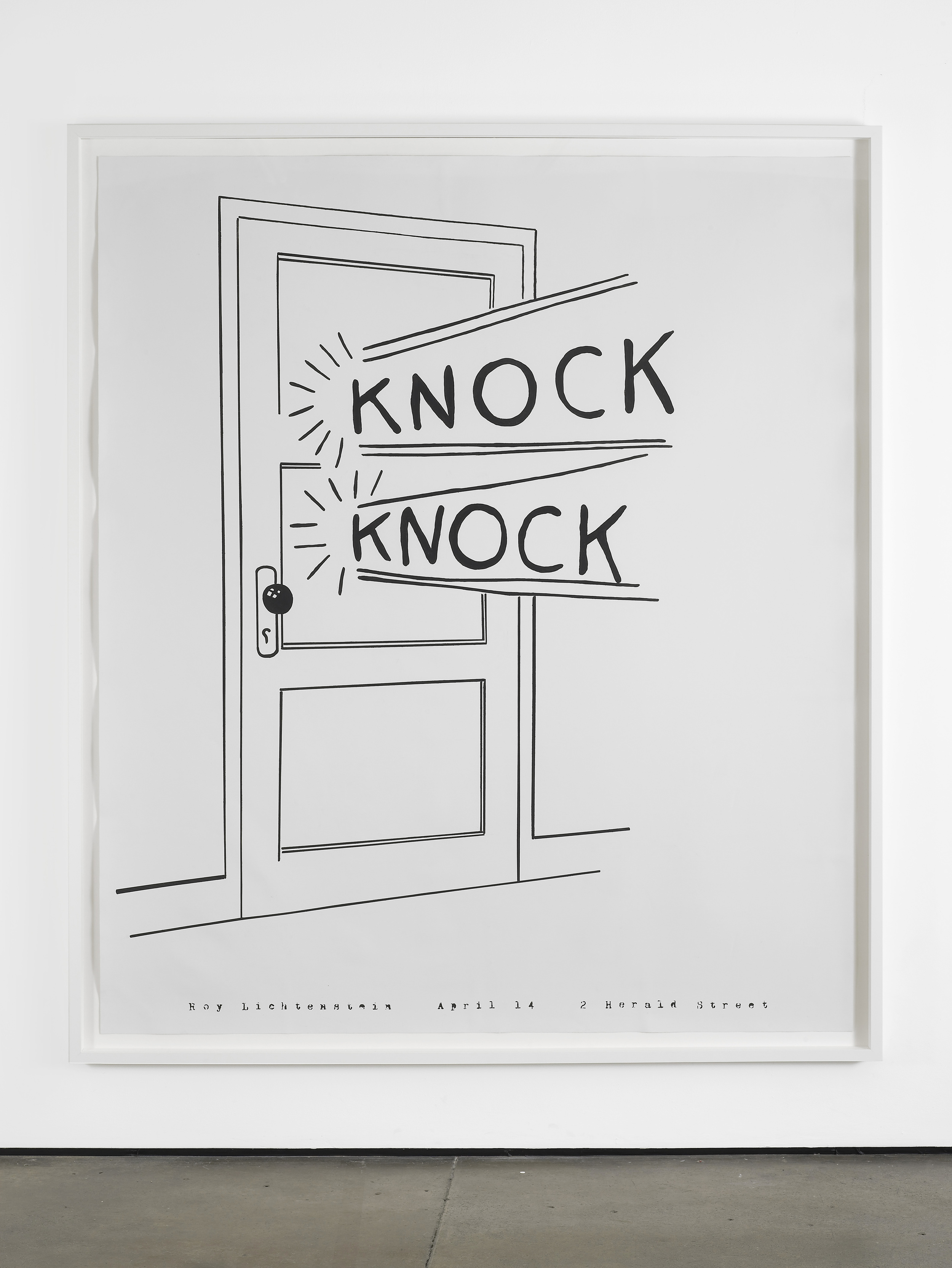 Marc Hundley Knock Knock 2012 Acrylic on canvas 226 x 193.7 cm / 89 x 76.3 in, unframed