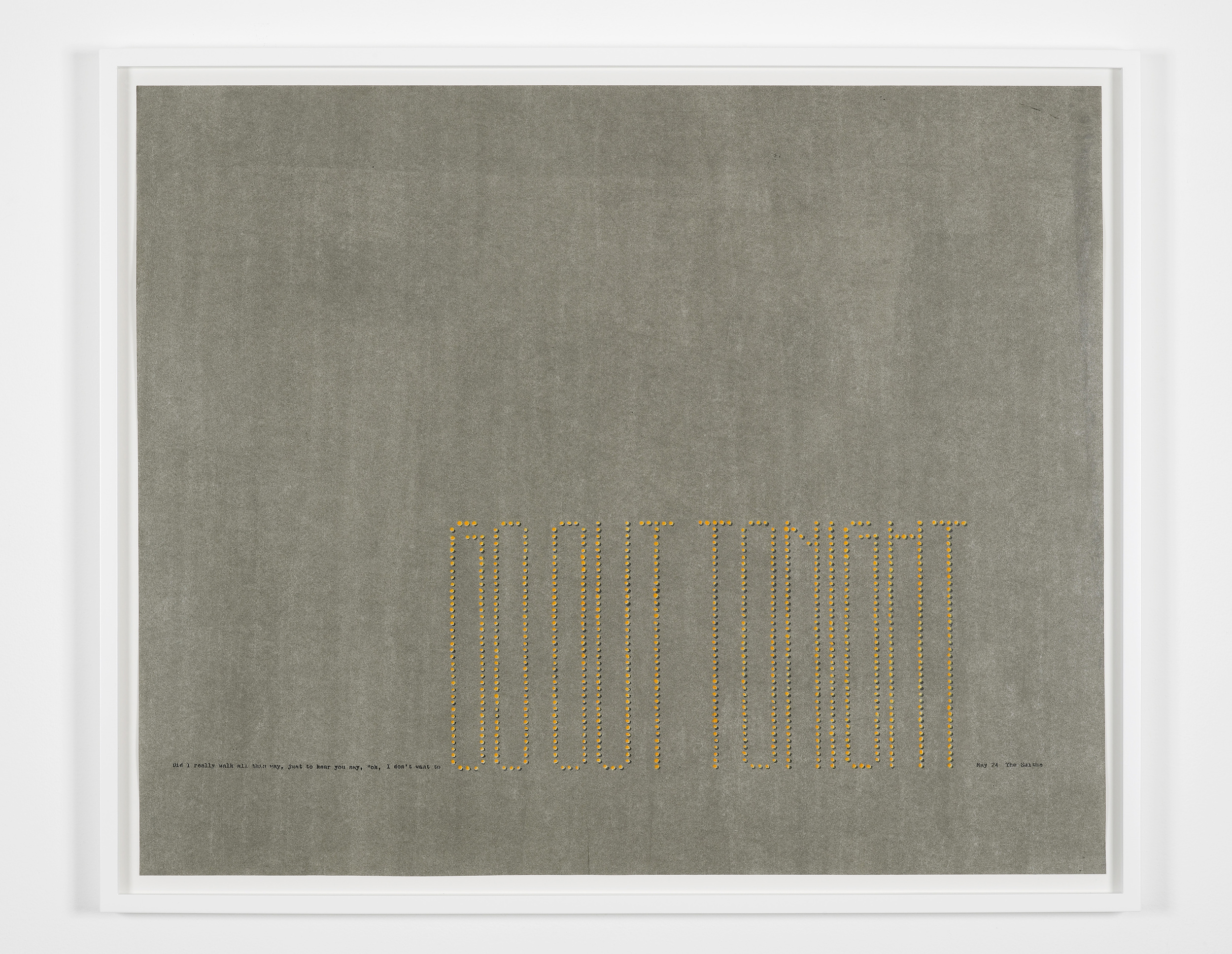 Marc Hundley Did I really walk all this way 2012 Ink, enamel, polyurethane on paper 73.8 x 90 cm / 29 x 35.4 in