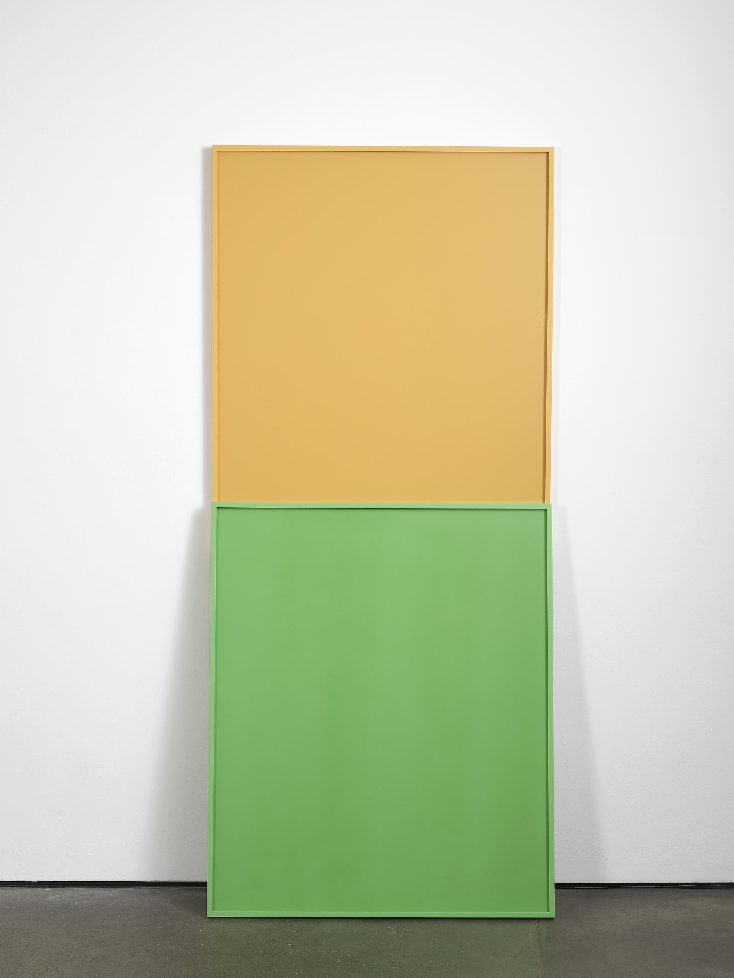 Matt Connors Folkways (second version) 2012 Two artist frames 2 parts, each part: 122 x 102 cm / 48 x 40.1 in