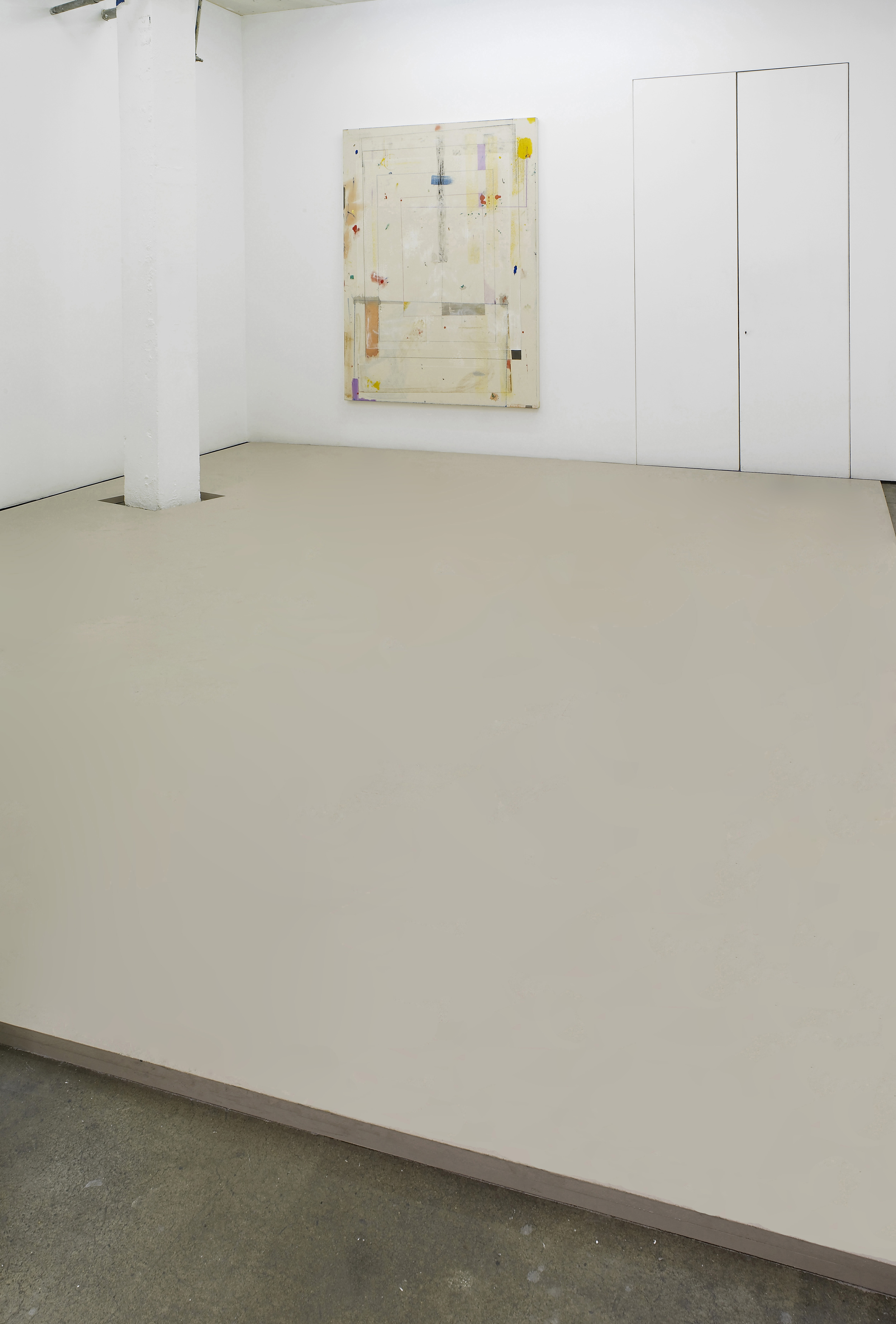 Matt Connors a poem is two words 2012 Acrylic, wood Dimensions variable
