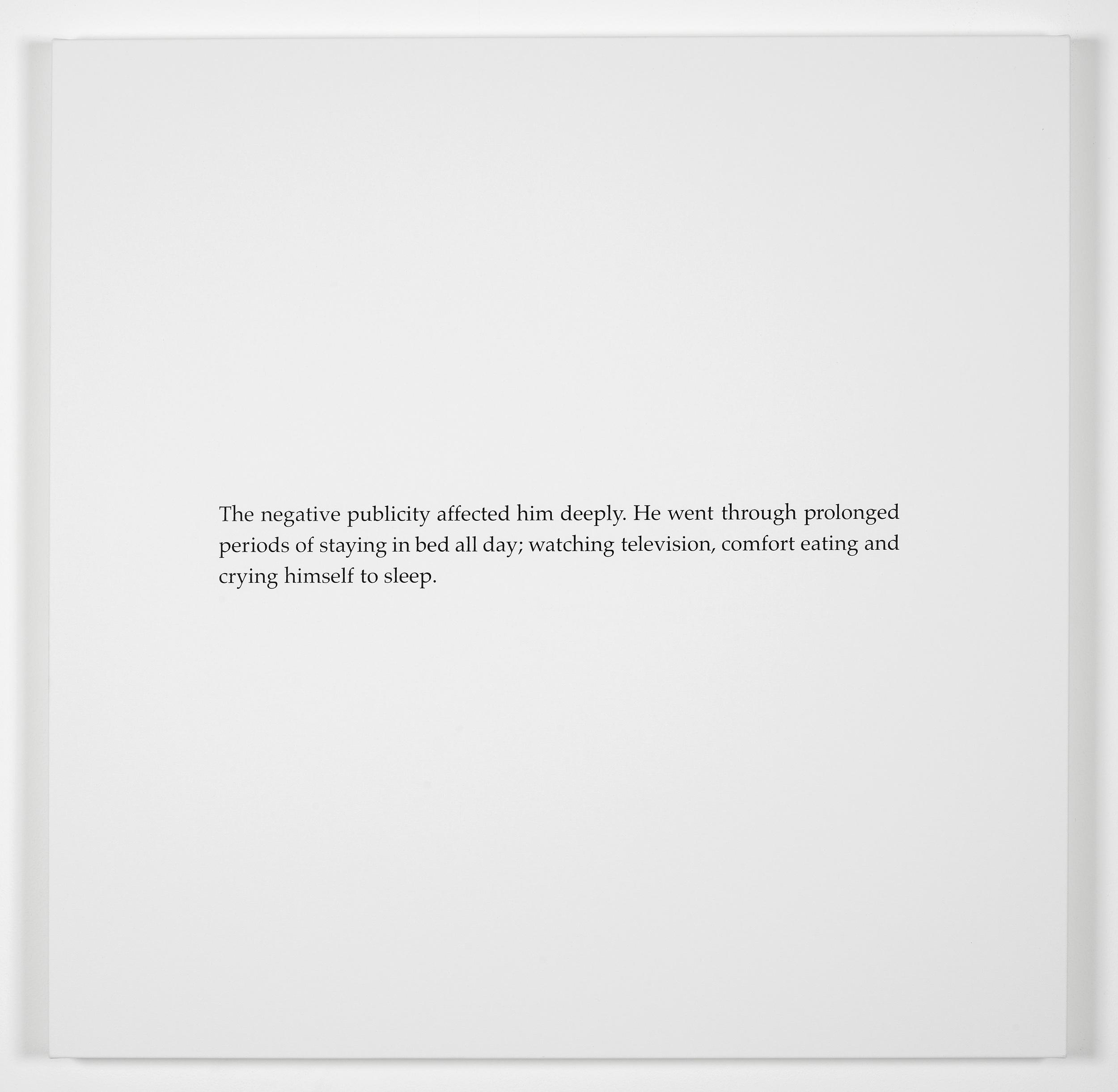 Scott King I Was A Murder Junkie 2011 Screenprint on canvas:90 x 90 cm / 35.4 x 35.4 in
