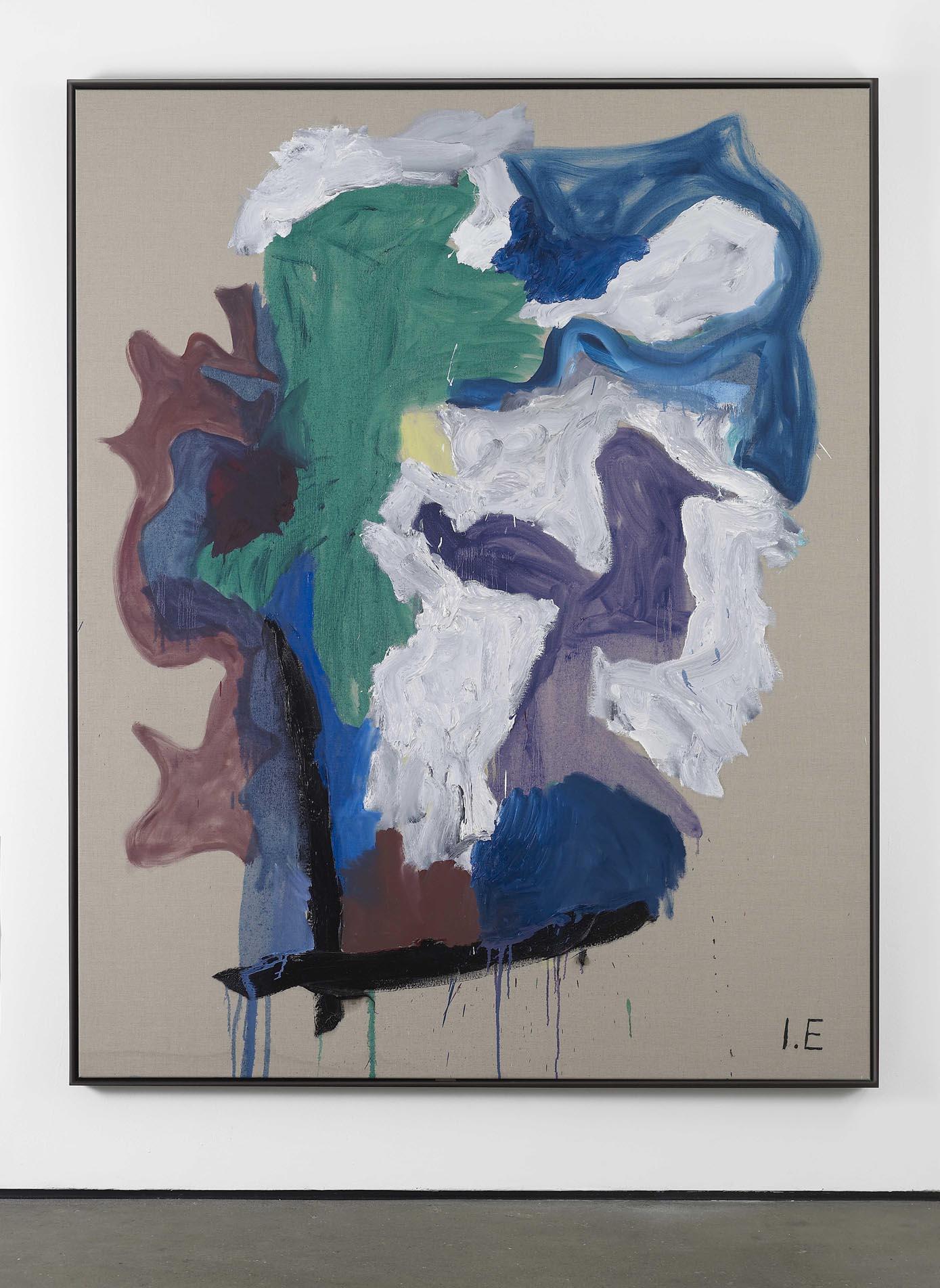 Grey Bonnet on a shelf 2010 Oil on linen, framed 203.5 x 163.5 cm / 80.1 x 64.3 in