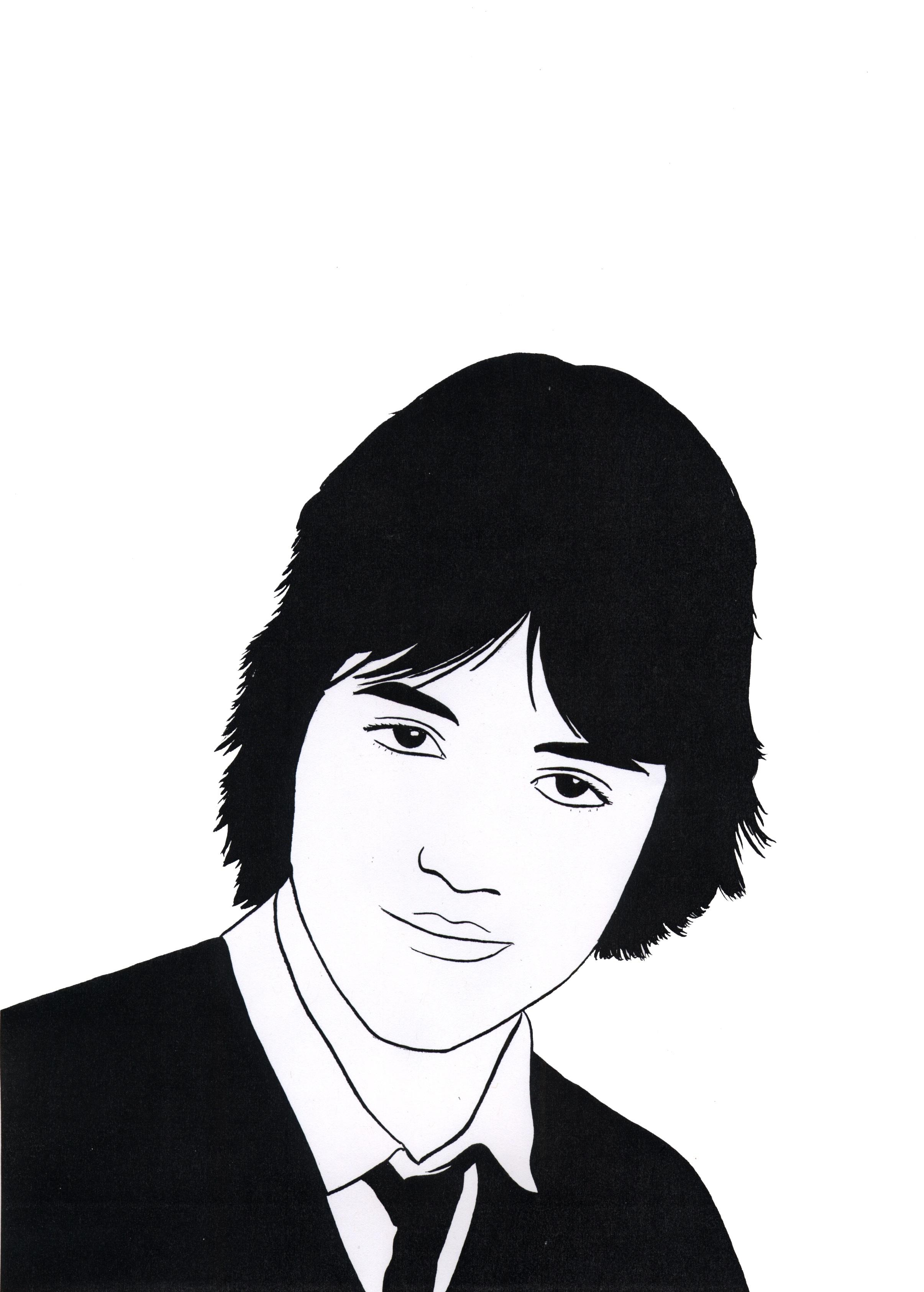 Self Portrait 'Sweet Sixteen' 2010 Ink on paper 42 x 29.7 cm / 16.5 x 11.6 in,47 x 34.5 cm / 18.5 x 13.5 in framed