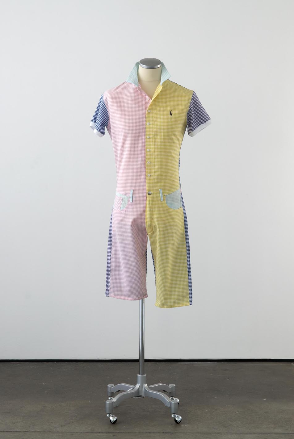 Matthew Darbyshire Standardised Production Clothing, Version 5 2009 Gingham cotton, cotton jersey & fittings on mannequin 185 x 45 x 34 cm
