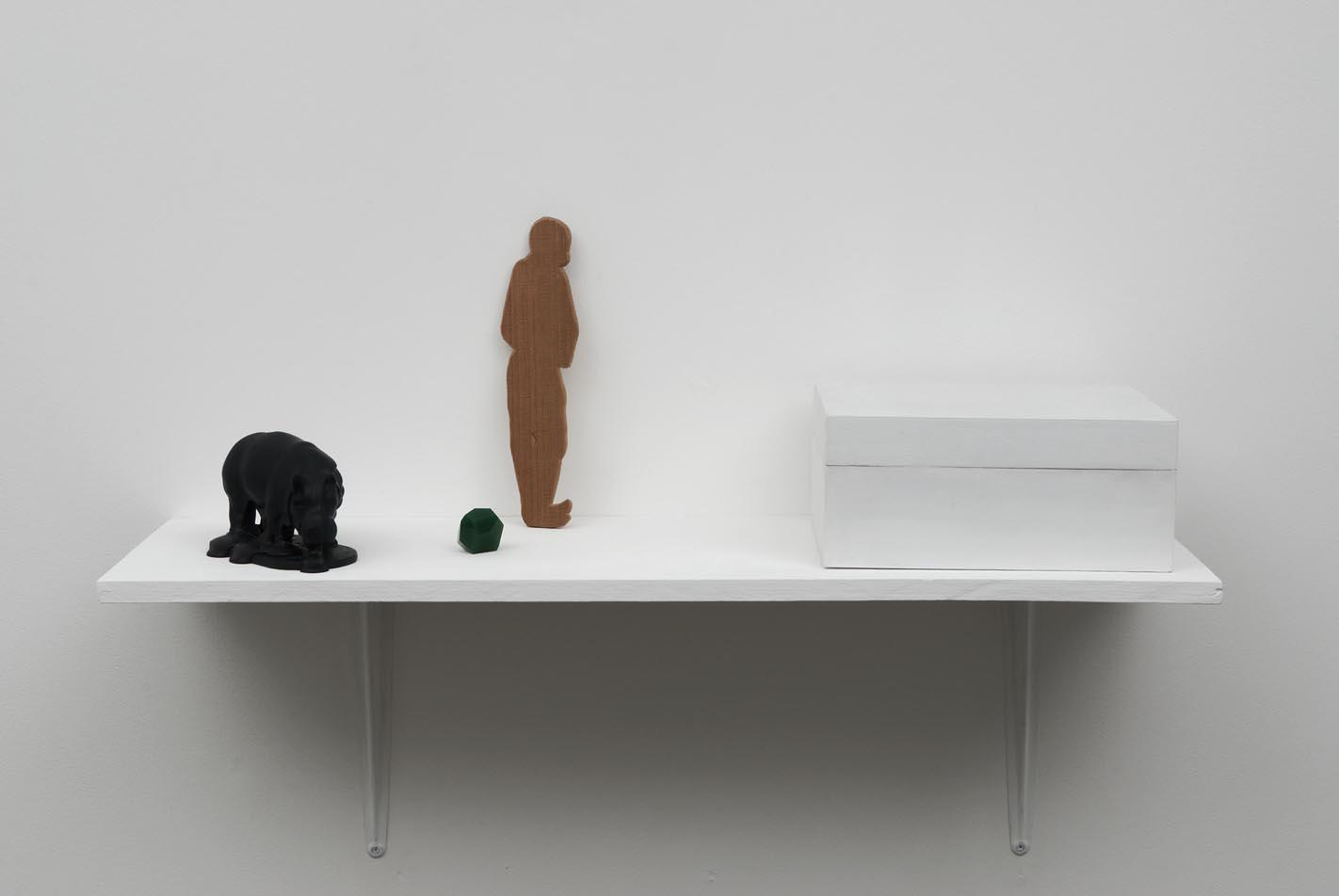 Christina Mackie Hippo Man Green Box 2009 Painted plywood, jesmonite, cedar, polyurethane, reconstituted foam 28 x 23 x 12.5 cm