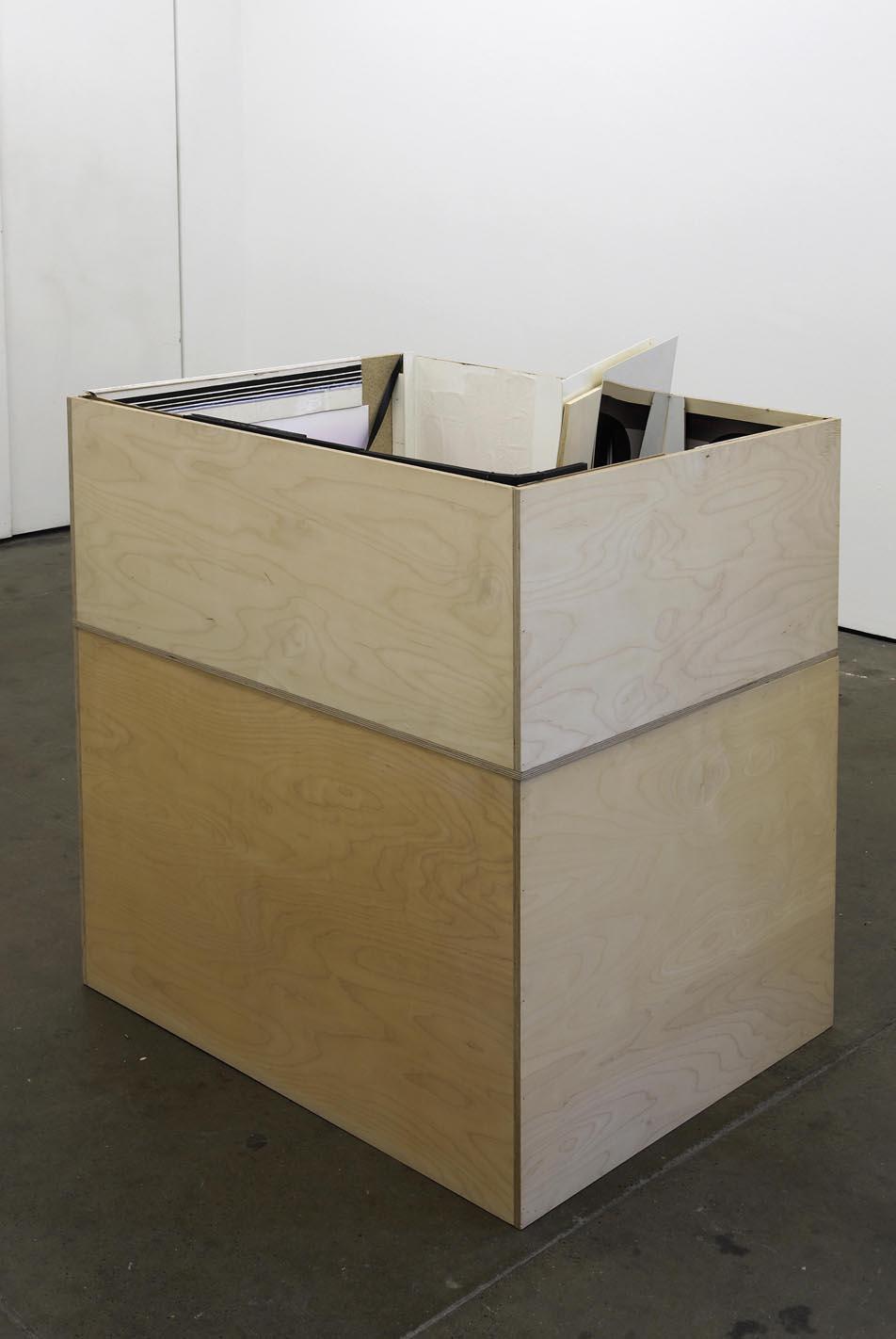 Nicole Wermers V4 2001 mixed media 103 x 95 x 75 cm