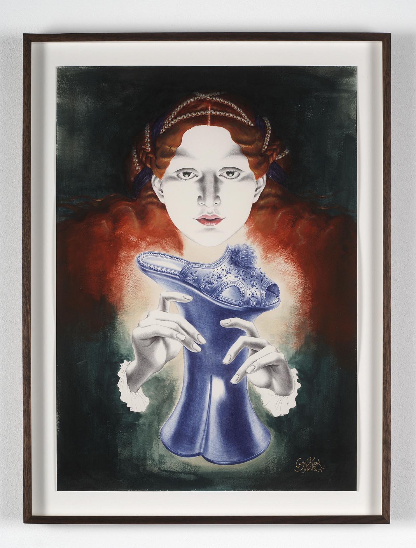 Desire - Venetian (Italian Renaissance) 2009 acrylic and ink on paper 42 x 29.7 cm