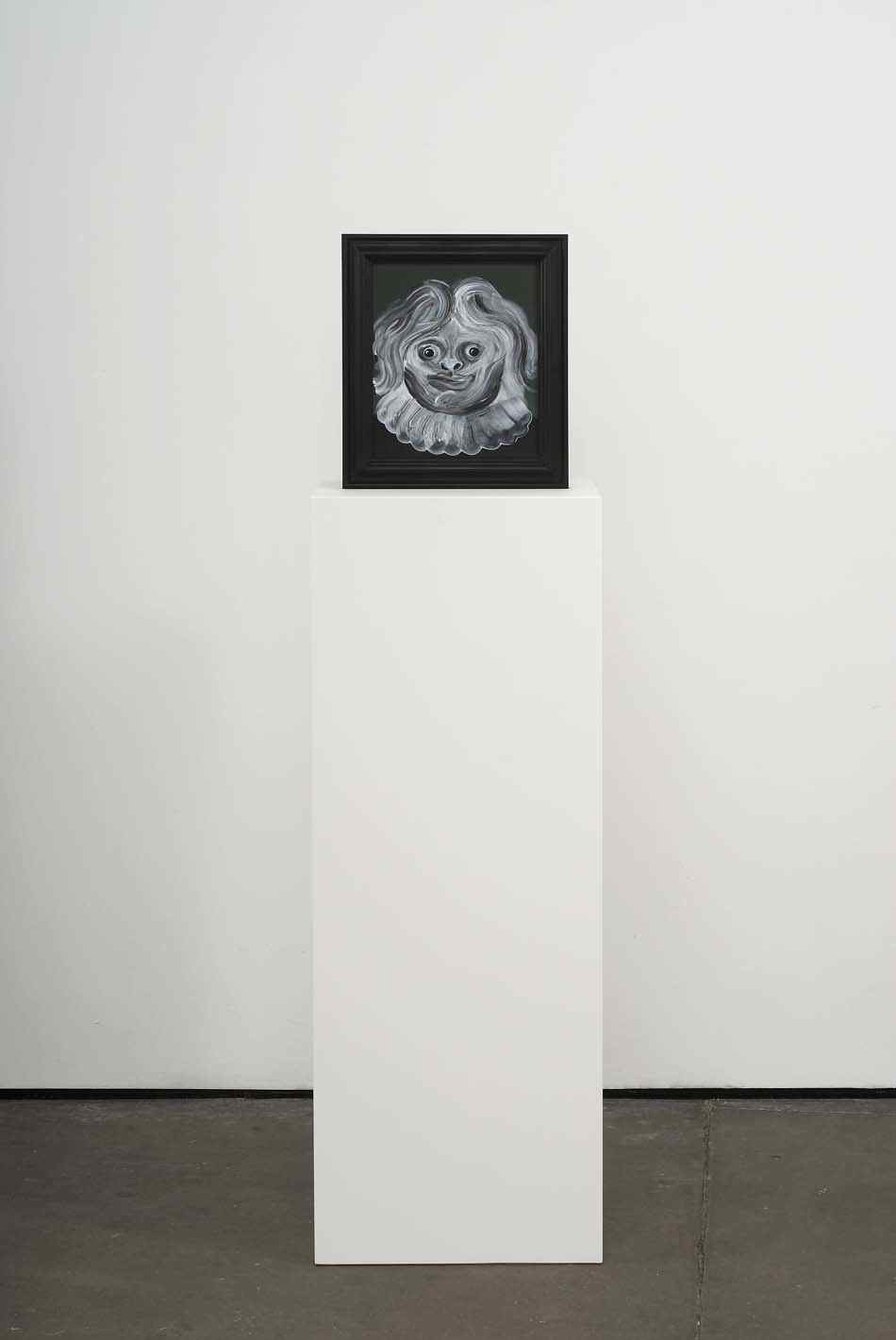 Boy Wonder   2009   Double-sided acrylic on board in artists frame mounted on pedestal   147.3 x 40 x 28cm