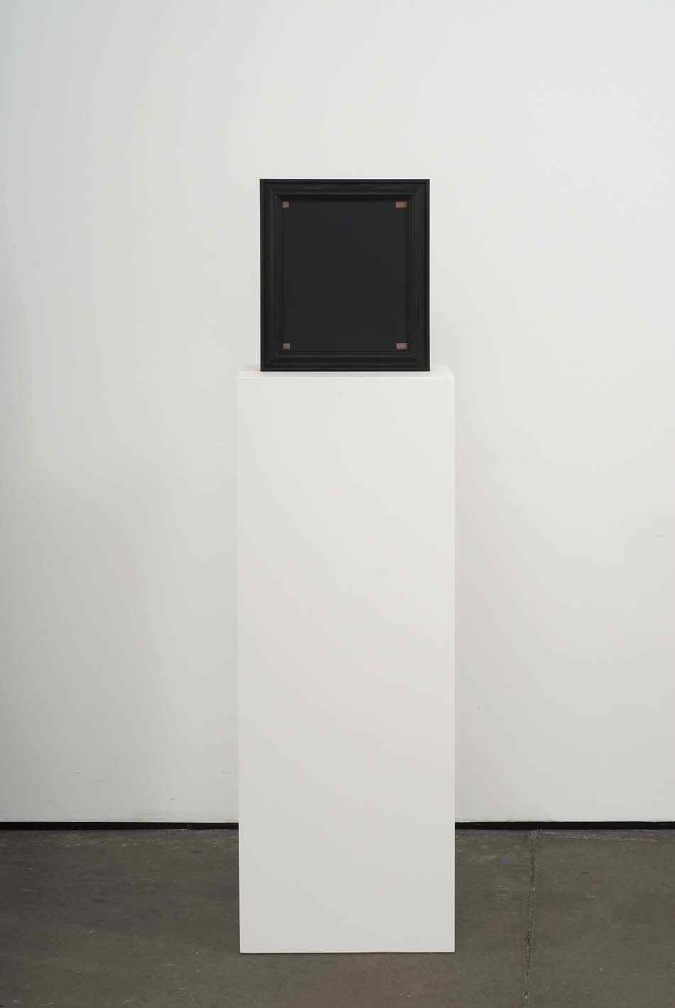 The Last Crusader's Last Fight 2009 Double-sided acrylic on board in artists frame mounted on pedestal 147.3 x 40 x 28cm