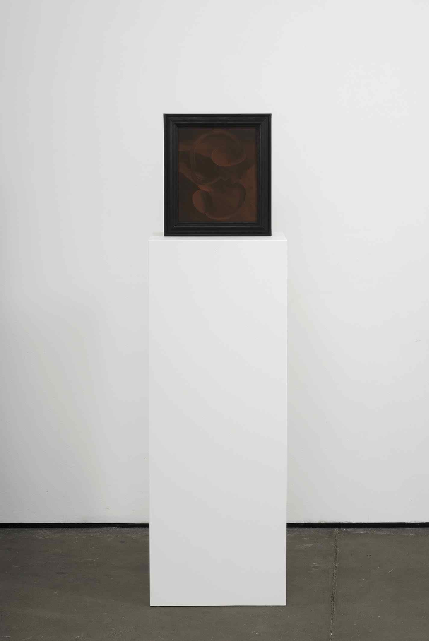 The Mushroom Picker 2009 Double-sided acrylic on board in artists frame mounted on pedestal 147.3 x 40 x 28cm