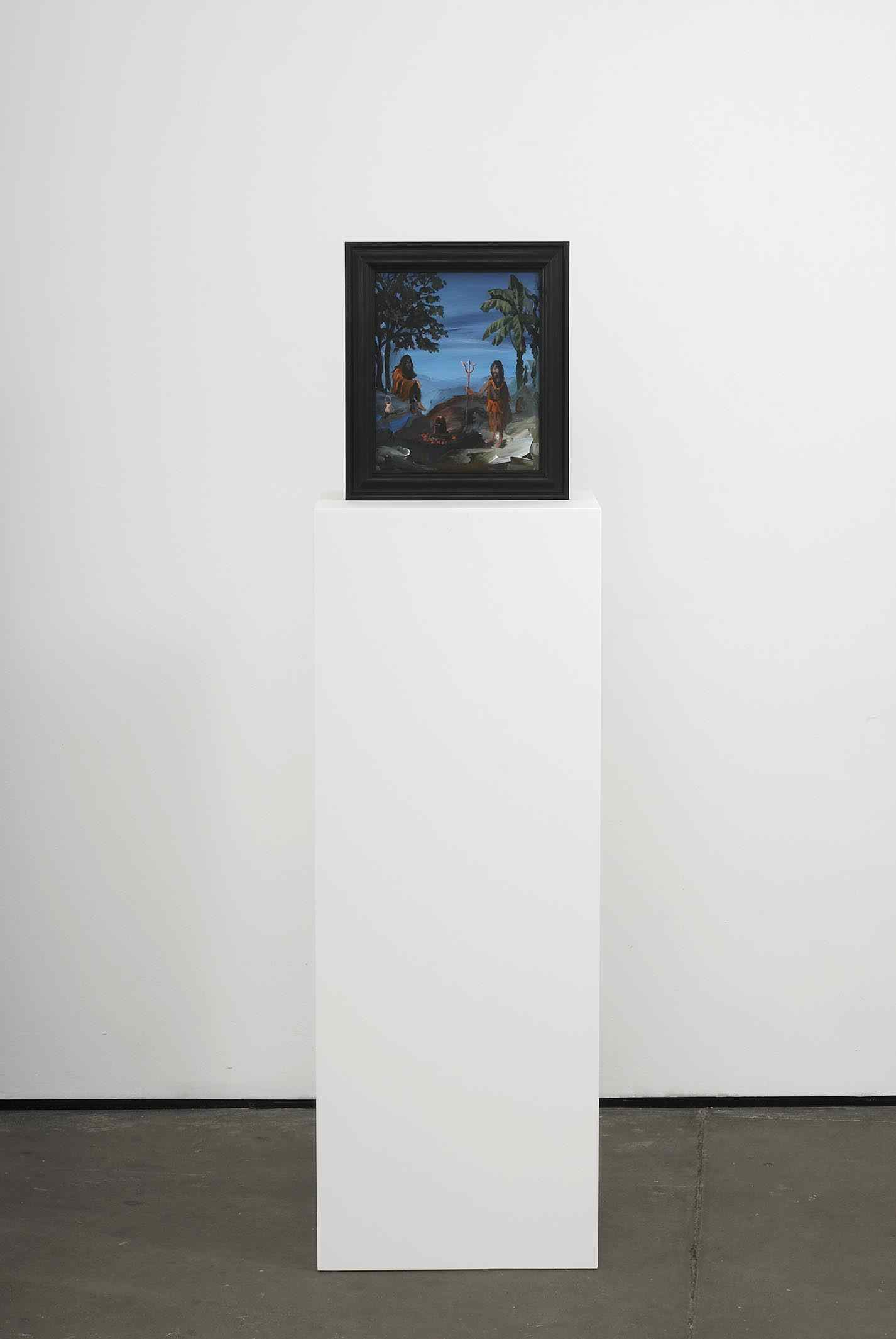 Wondering Sadhus   2009   Double-sided acrylic on board in artists frame mounted on pedestal   147.3 x 40 x 28cm