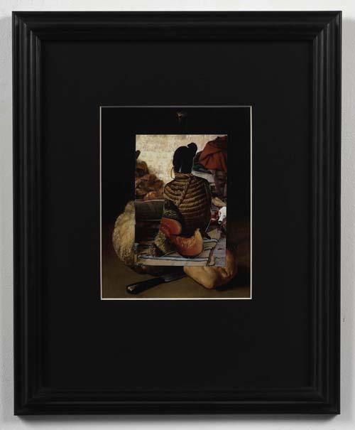 Bondage Sadhu 2009 Framed collage 42 x 34cm