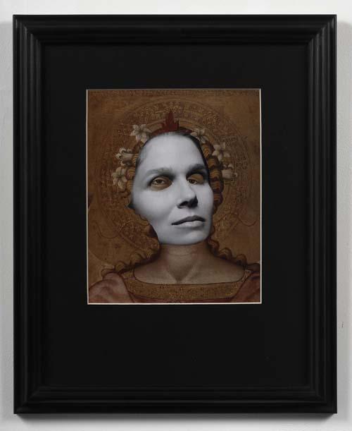 Lady Madonna 2009 Framed collage 42 x 34cm