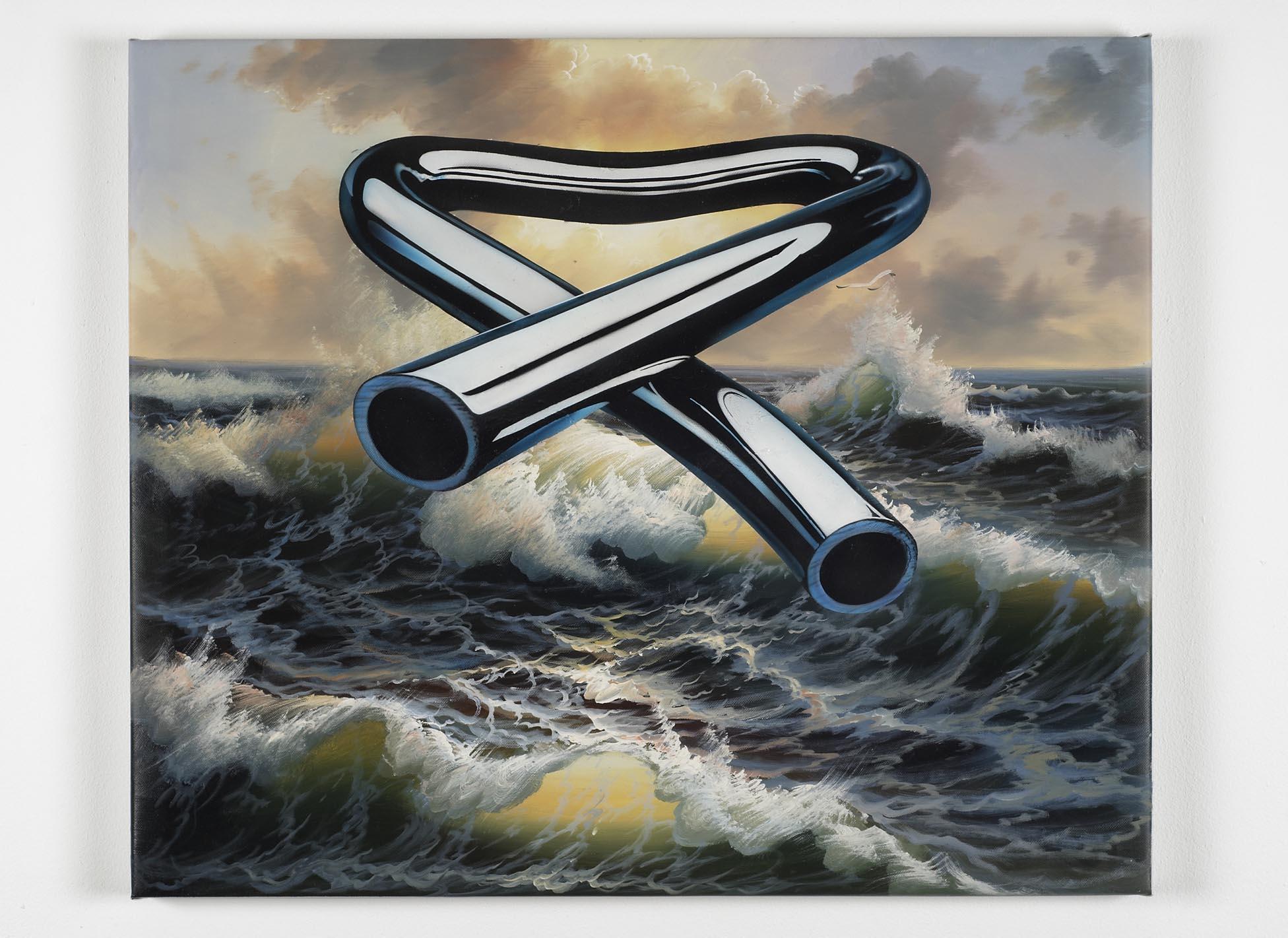 Tubular Bells 1 2008 oil and acrylic on canvas 51.5 x 61.5cm