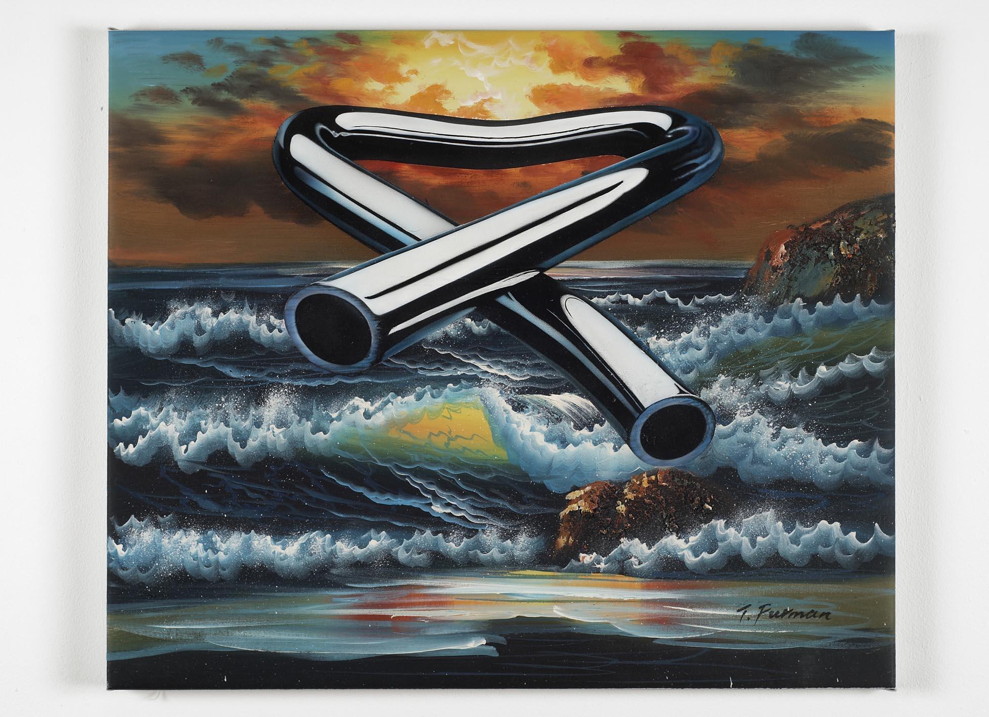 Tubular Bells 2 2008 oil and acrylic on canvas 51.8 x 61.8cm