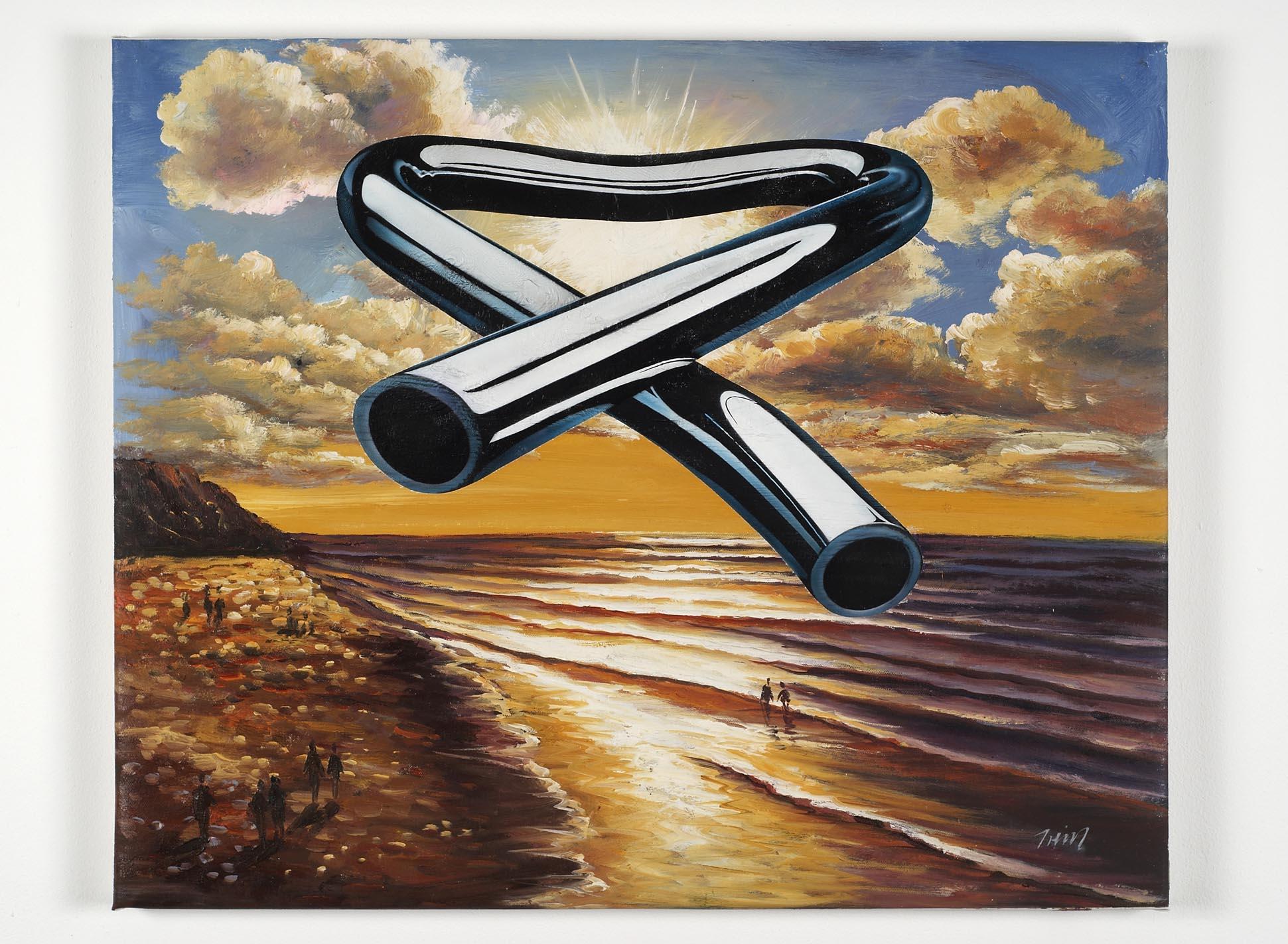 Tubular Bells 3 2008 oil and acrylic on canvas 51.8 x 63.1cm