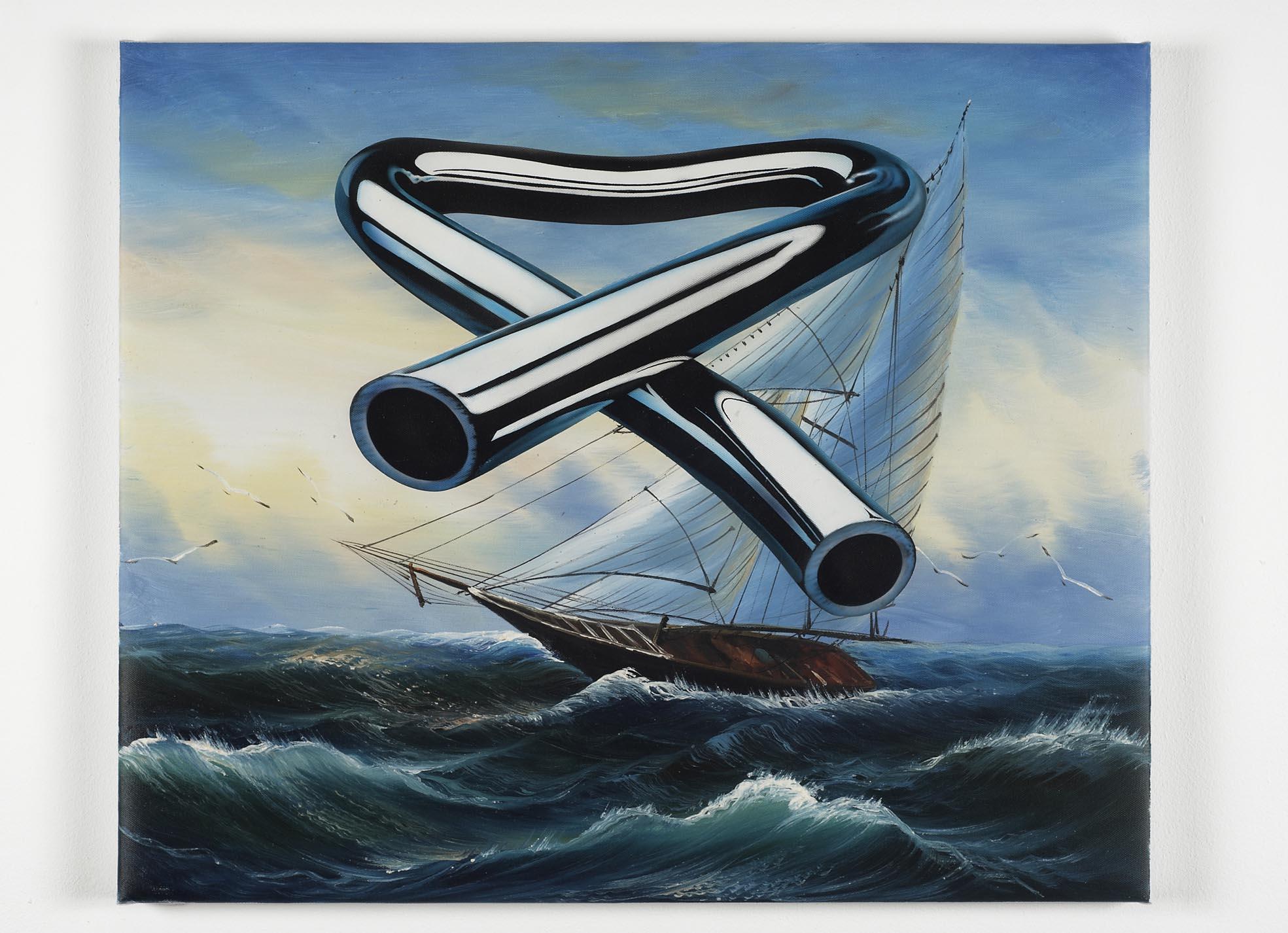 Tubular Bells 4   2008   oil and acrylic on canvas   52 x 62.3cm
