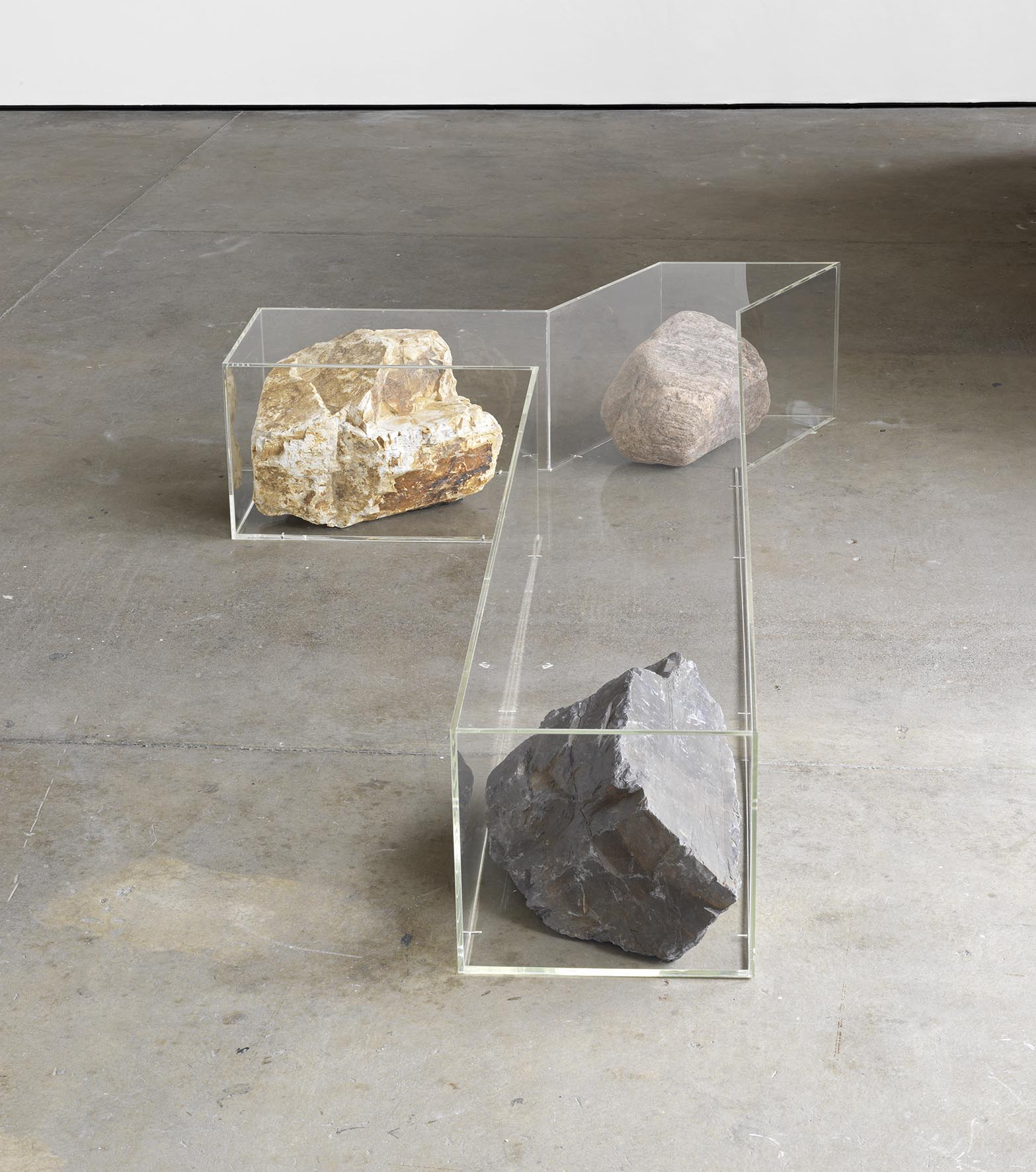 Untitled (Bench) 2008 acrylic, golden quartzite, mixed glacier and purple slate 36 x 239 x 122.5 cm