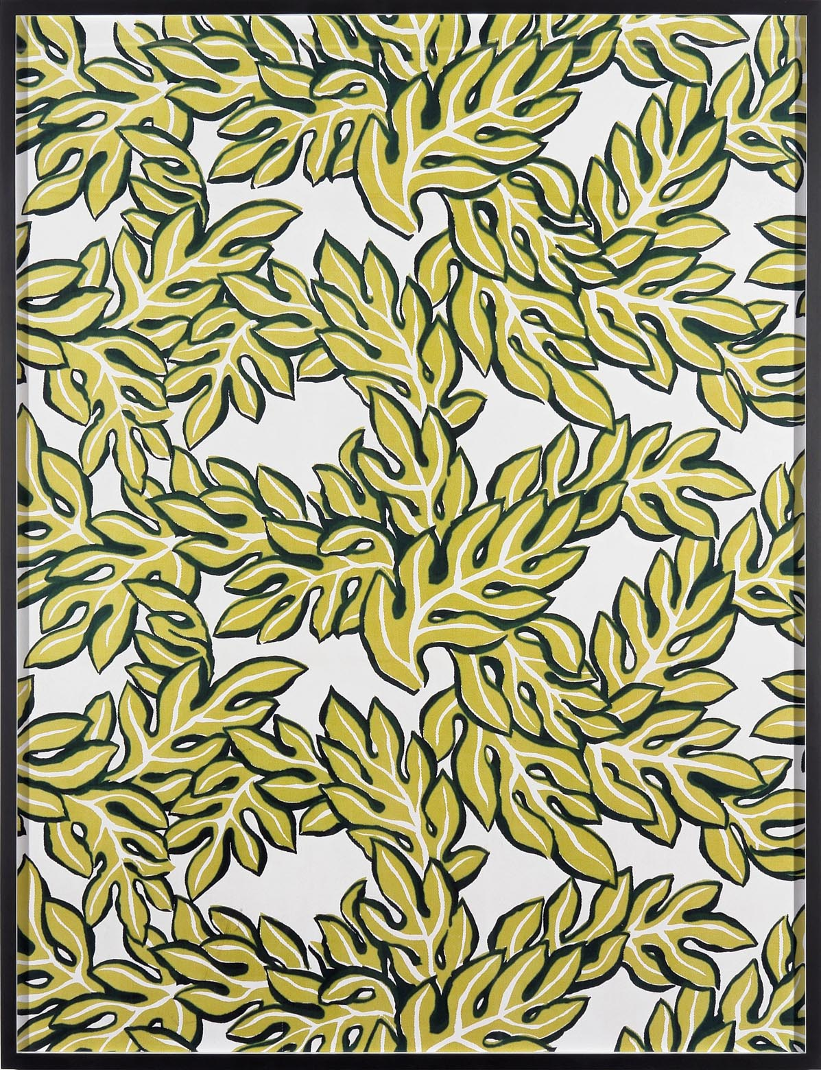Annette Kelm Big Print #6 (Jungle Leaves - cotton twill 1947 design Dorothy Draper, courtesy Schumacher &Co) 2007 C-Print:131.5 x 100.5 cm