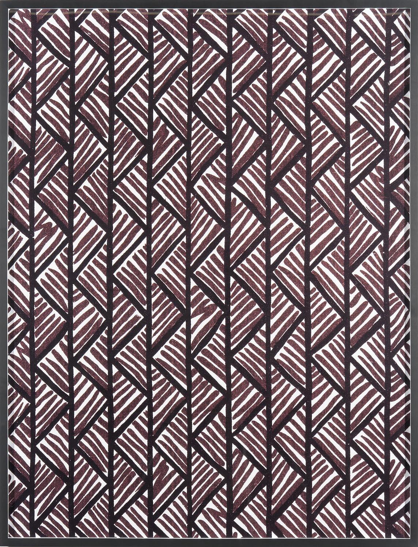 Annette Kelm Big Print #1 (Lahala Tweet - cotton chevron, fall 1949 design Dorothy Draper, courtesy Schumacher &Co) 2007 C-Print: 130.5 x 100.5 cm